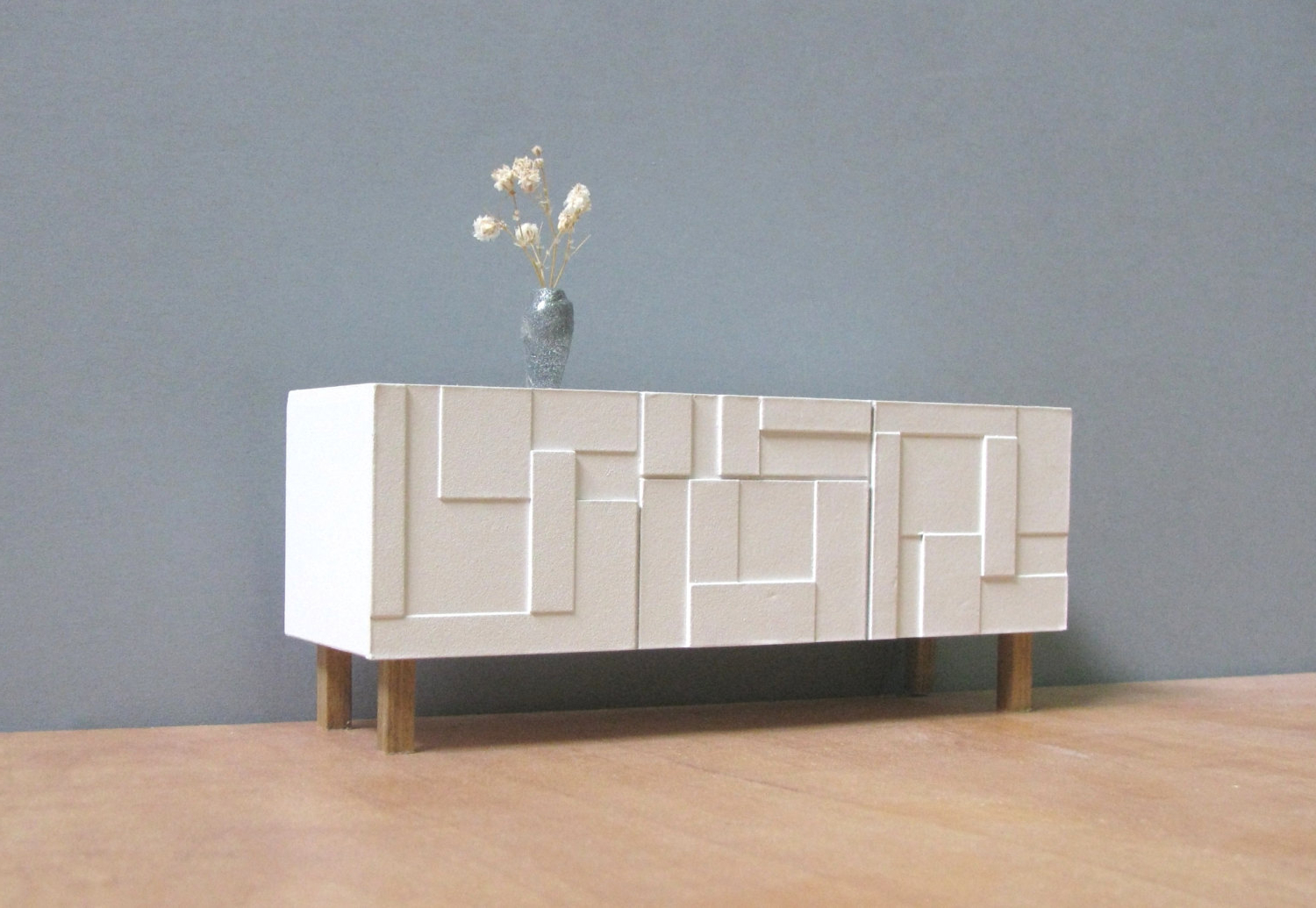 Mid Century White Sideboard Cabinet — Furniture Ideas With Regard To Mid Century White Buffets (View 12 of 20)