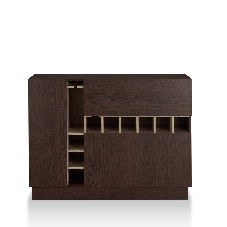 Miyoa Modern Espresso Storage Buffet Serverfoa Intended For Modern Espresso Storage Buffets (View 13 of 20)