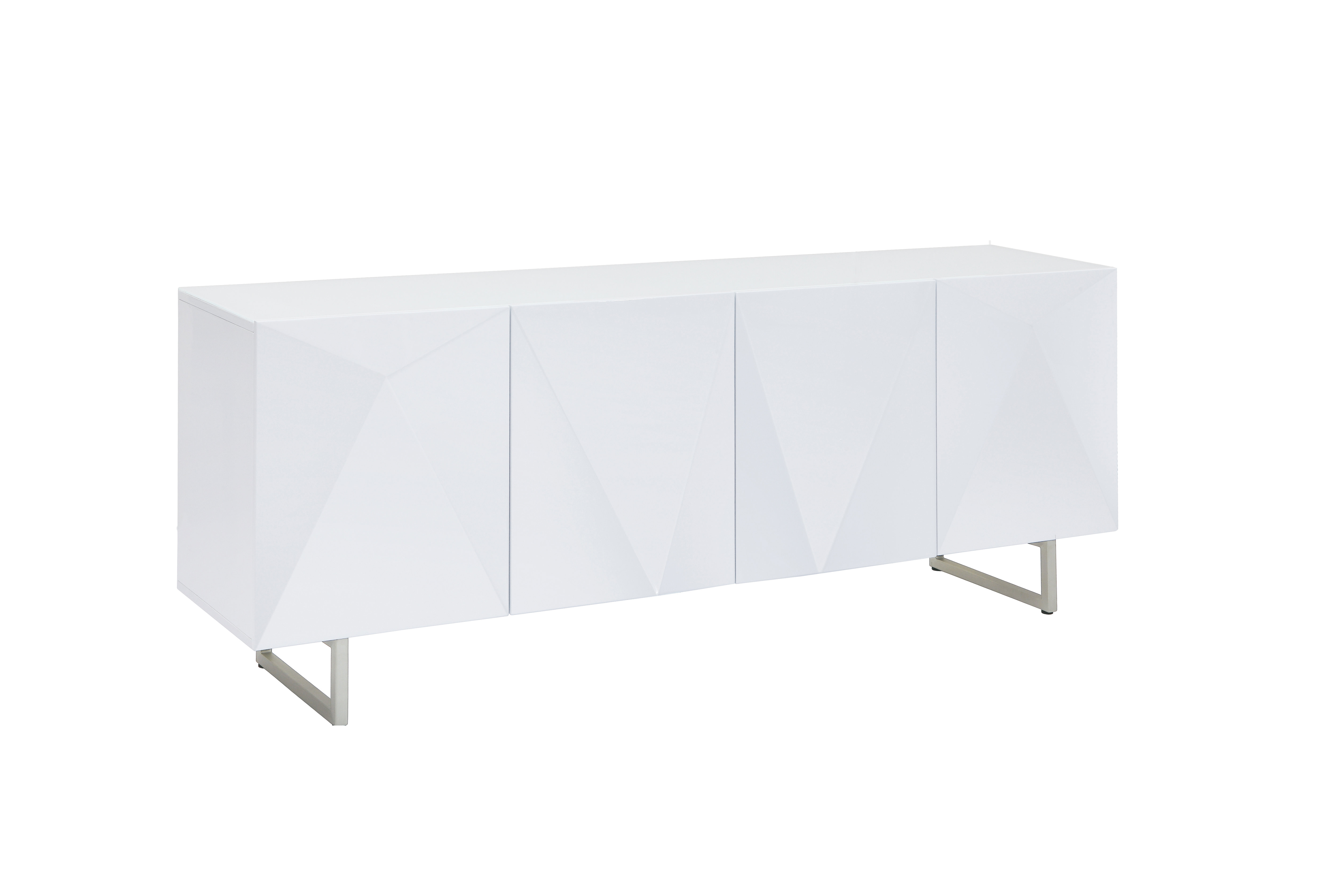 Modern & Contemporary Glass Credenza   Allmodern With Contemporary Three Tier Glass Buffets With Black Metal Frame (View 8 of 20)