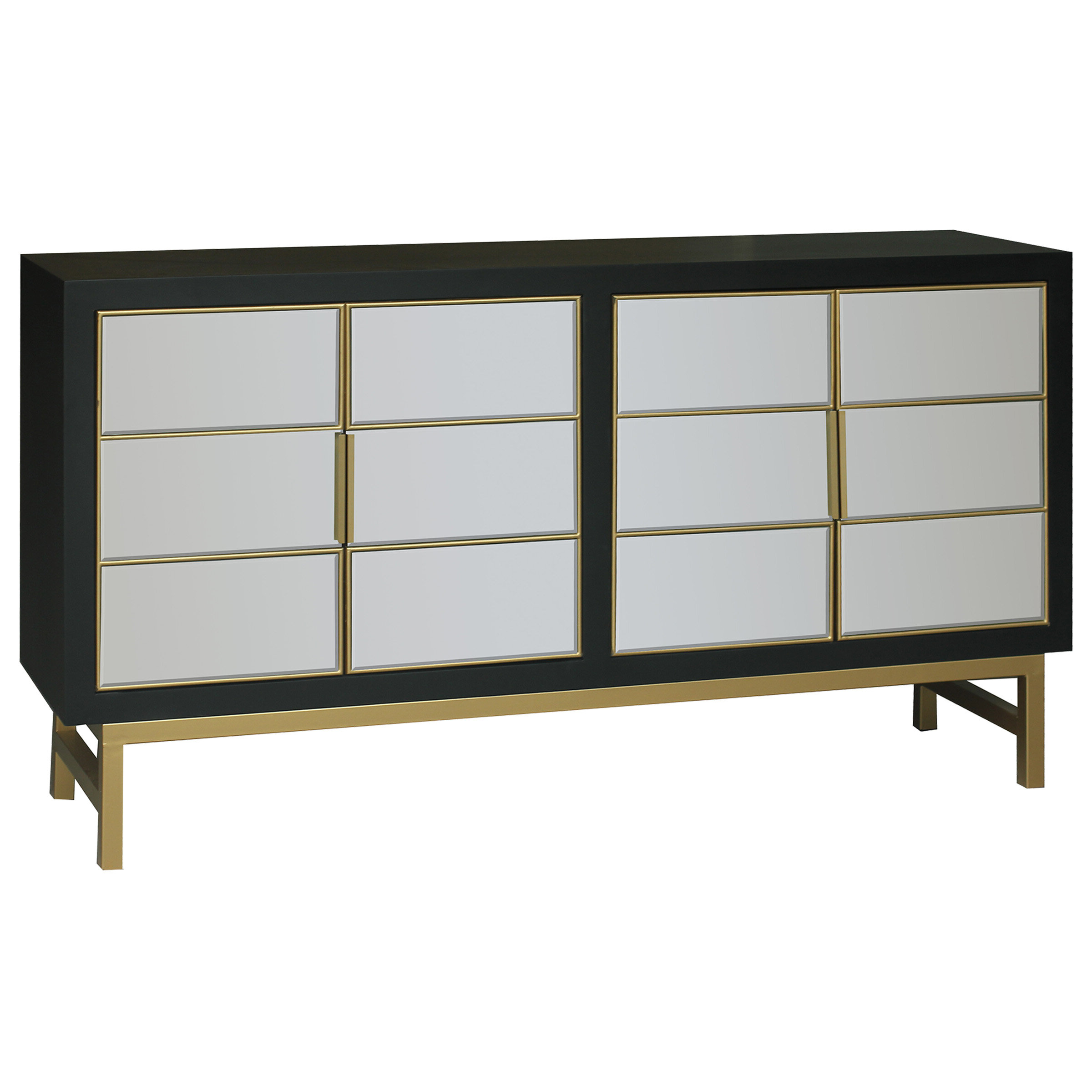 Modern & Contemporary Kieth 4 Door Credenza | Allmodern Throughout Bright Angles Credenzas (View 20 of 20)