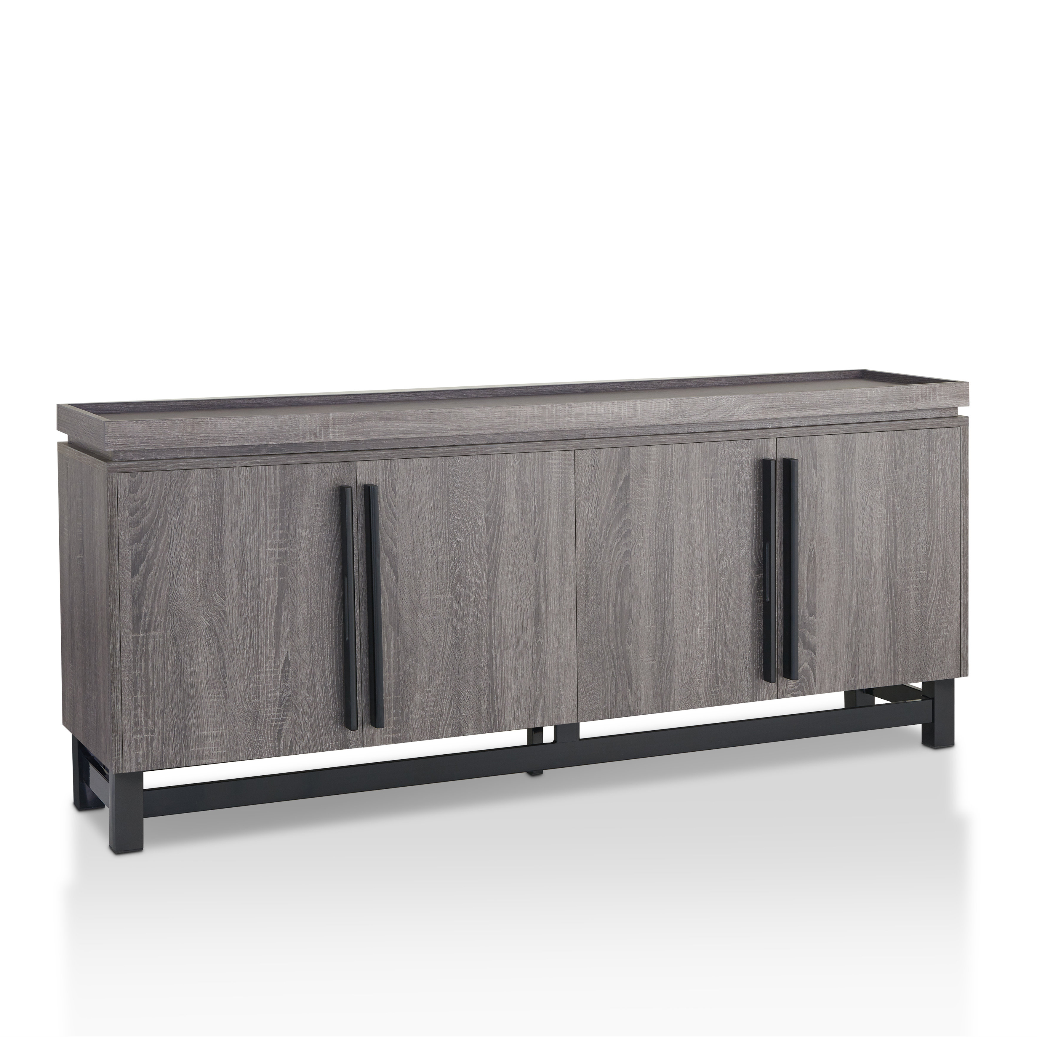 Modern Grey Sideboards + Buffets | Allmodern For Contemporary Style Wooden Buffets With Two Side Door Storage Cabinets (View 13 of 20)