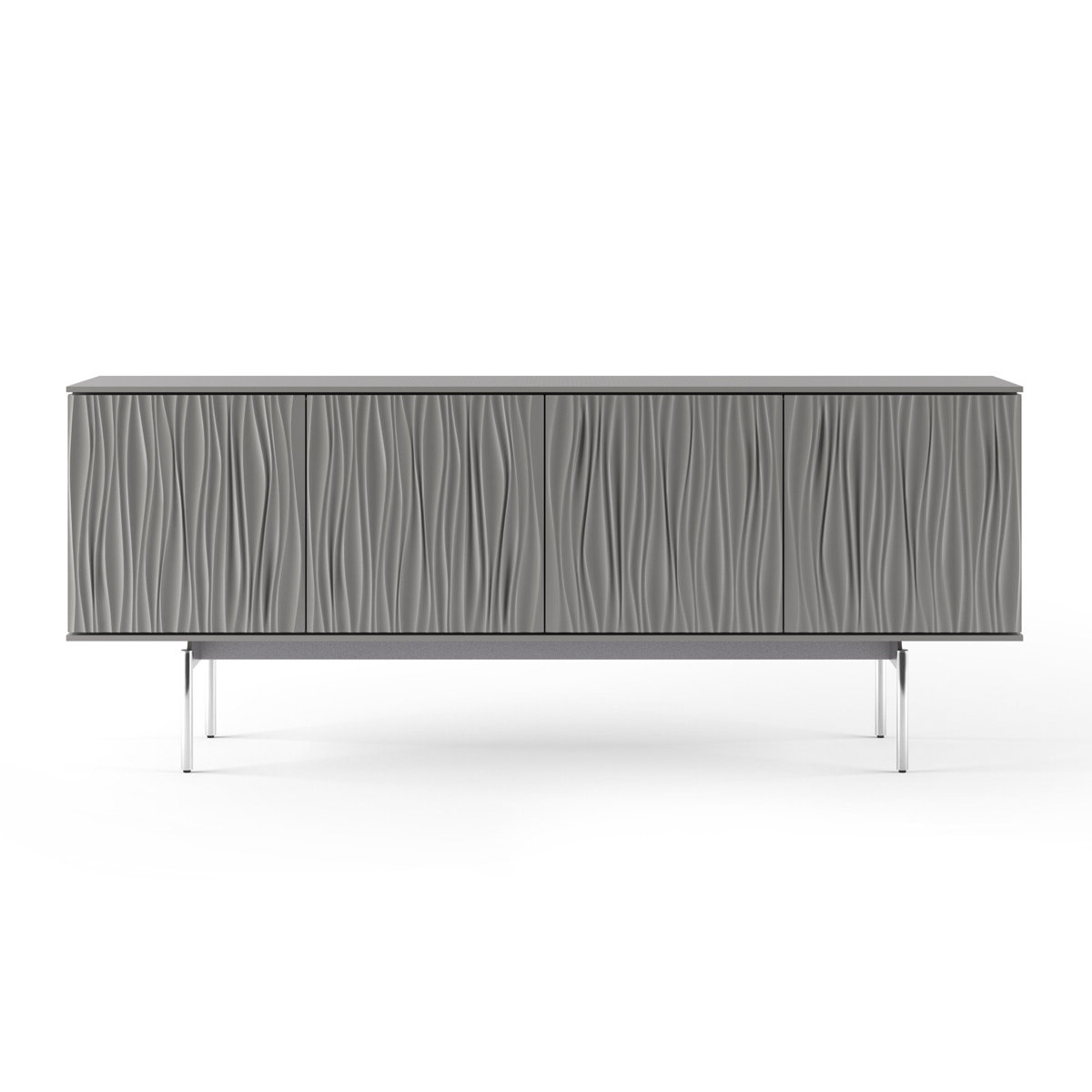 Modern Grey Sideboards + Buffets | Allmodern For Modern Lacquer 2 Door 3 Drawer Buffets (View 10 of 20)