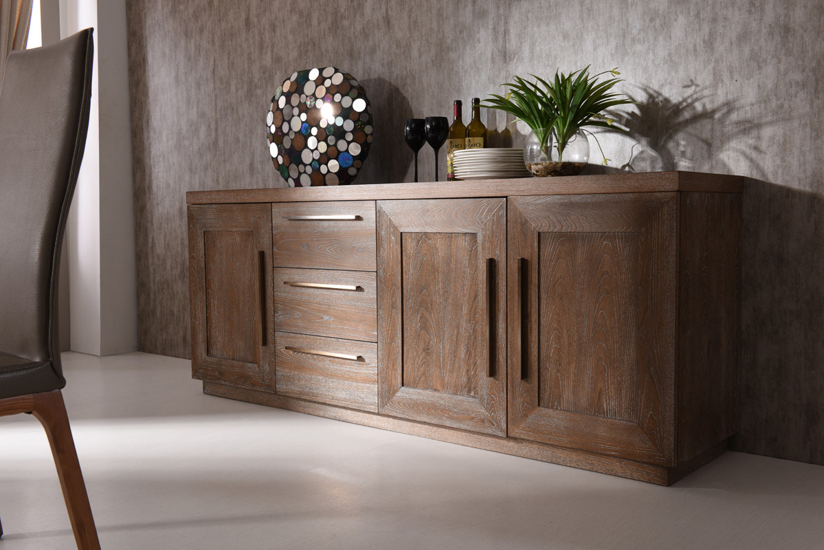 Modrest Cologne Modern White Wash Oak Buffet Intended For Togal Contemporary White/light Oak Dining Buffets (View 11 of 20)