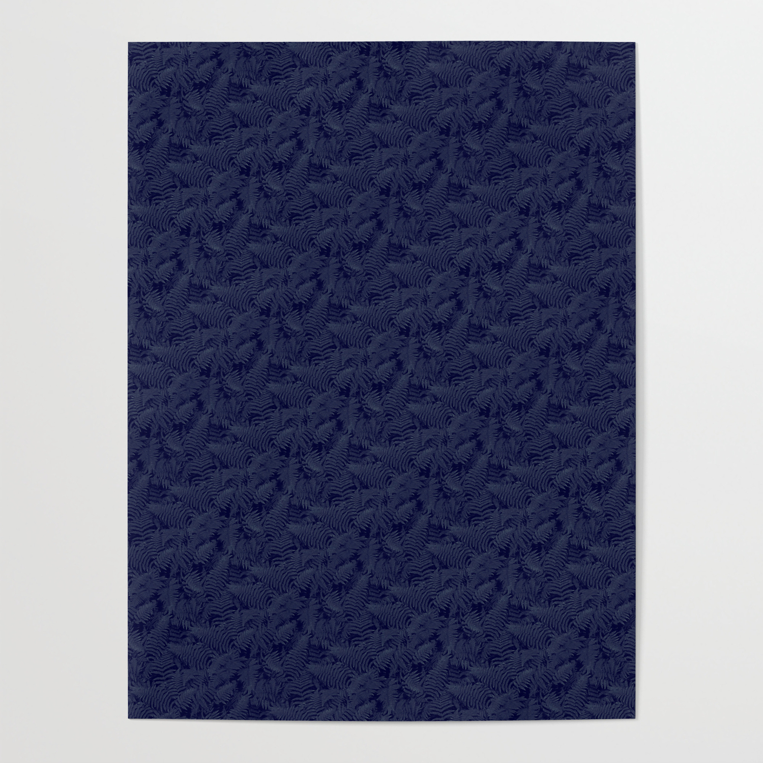 Muted '90S Fern Background Grid At Dusk – Deep Blue Posterwilliambottini With Regard To Deep Blue Fern Credenzas (View 15 of 20)