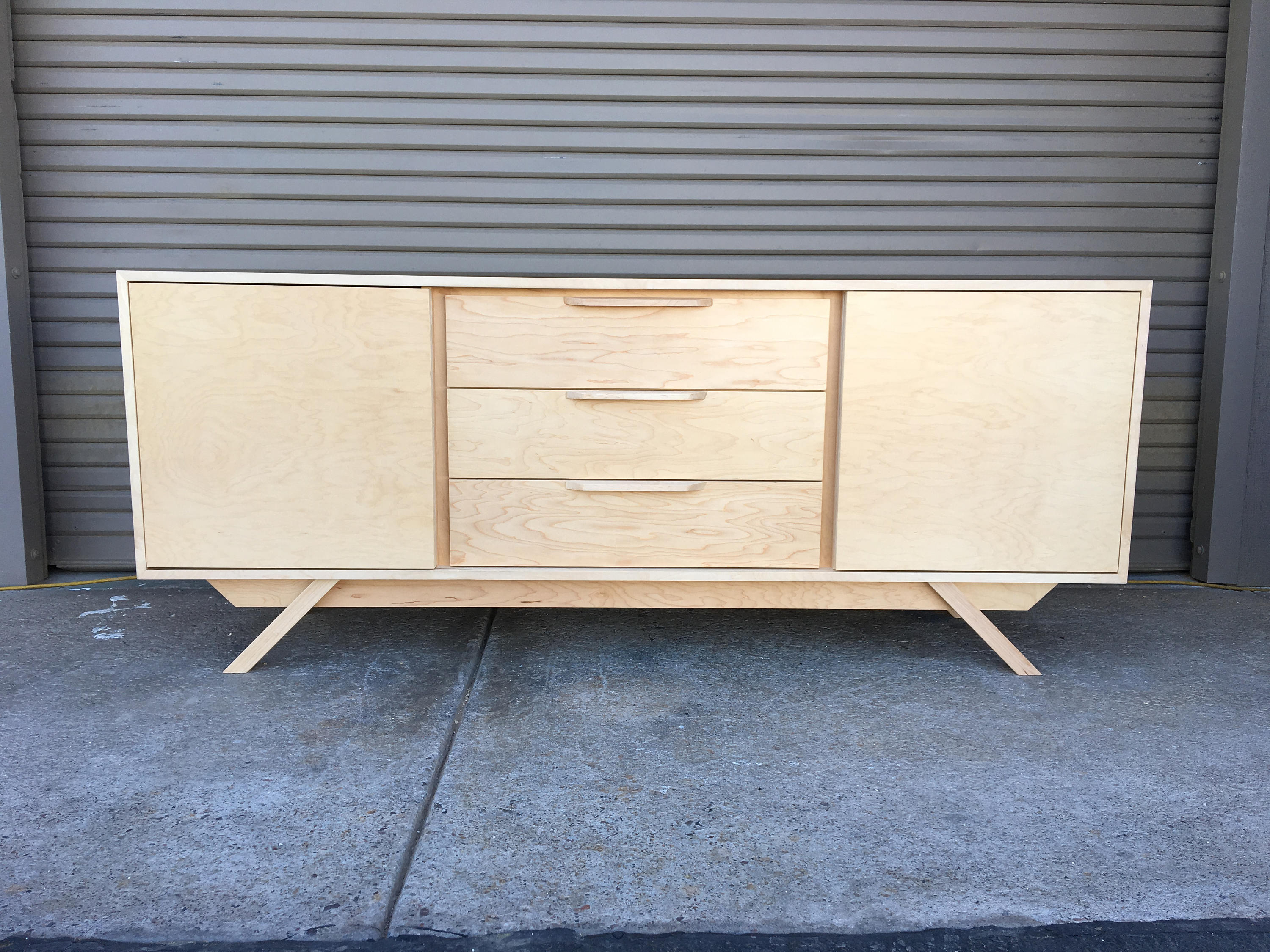New Hand Built Mid Century Inspired Buffet / Credenza (View 16 of 20)