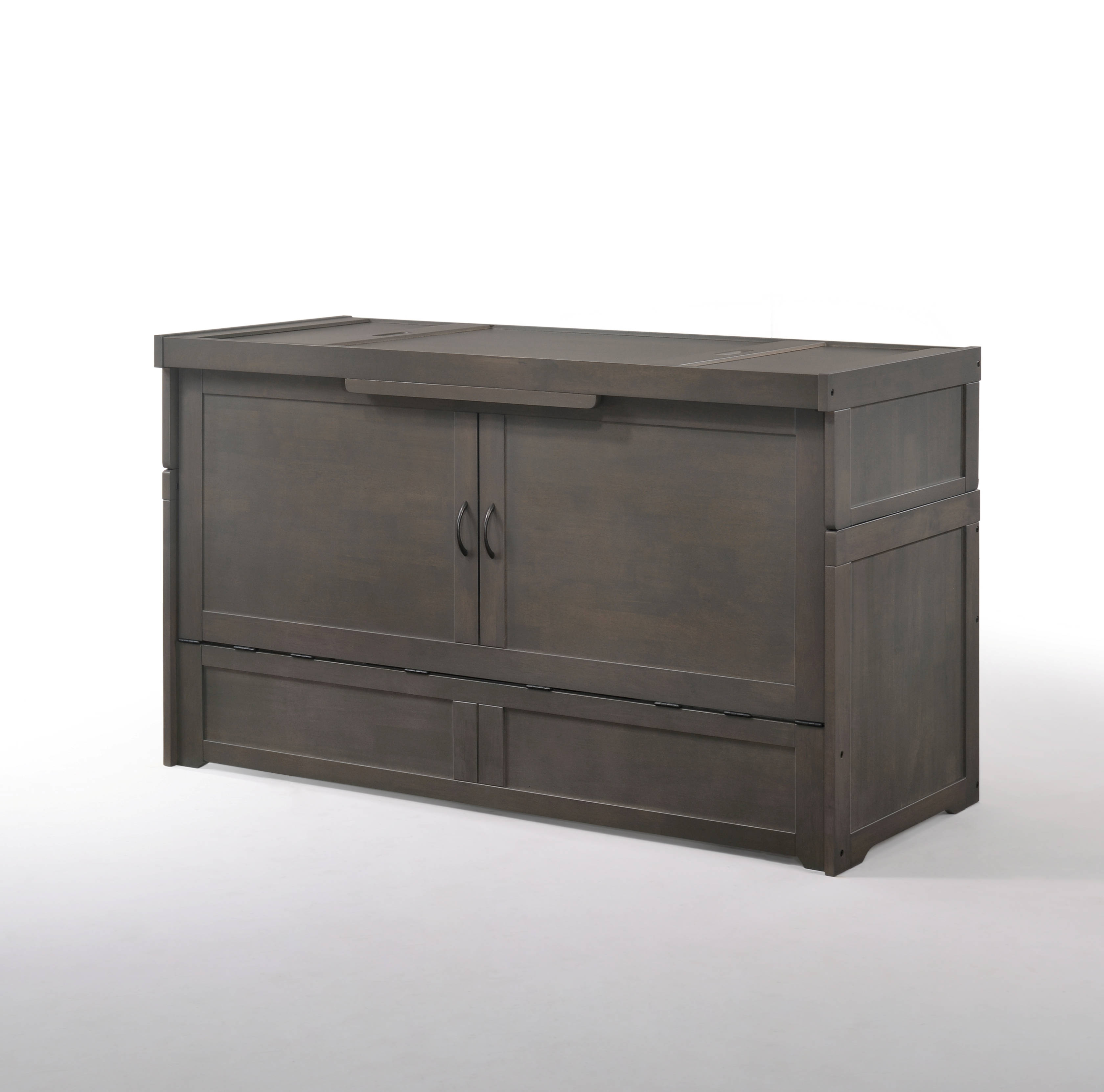 Night And Day Furniture Cube Stonewash Murphy Cabinet Bed With Mattress Within Emerald Cubes Credenzas (View 20 of 20)
