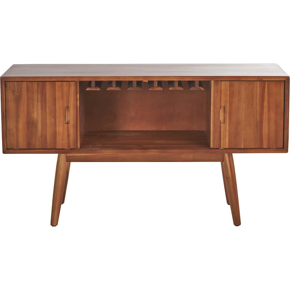 Noble House – Afton Mid Century Bar Cabinet – Light Oak Inside Mid Century Retro Modern Oak And Espresso Wood Buffets (View 16 of 20)
