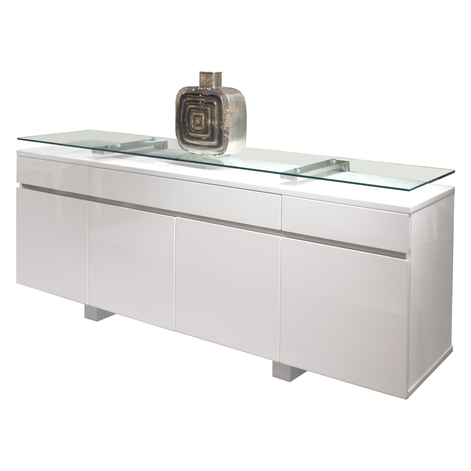 Novo Dining Buffet – White Lacquer | Products In 2019 Throughout Modern Lacquer 2 Door 3 Drawer Buffets (View 8 of 20)