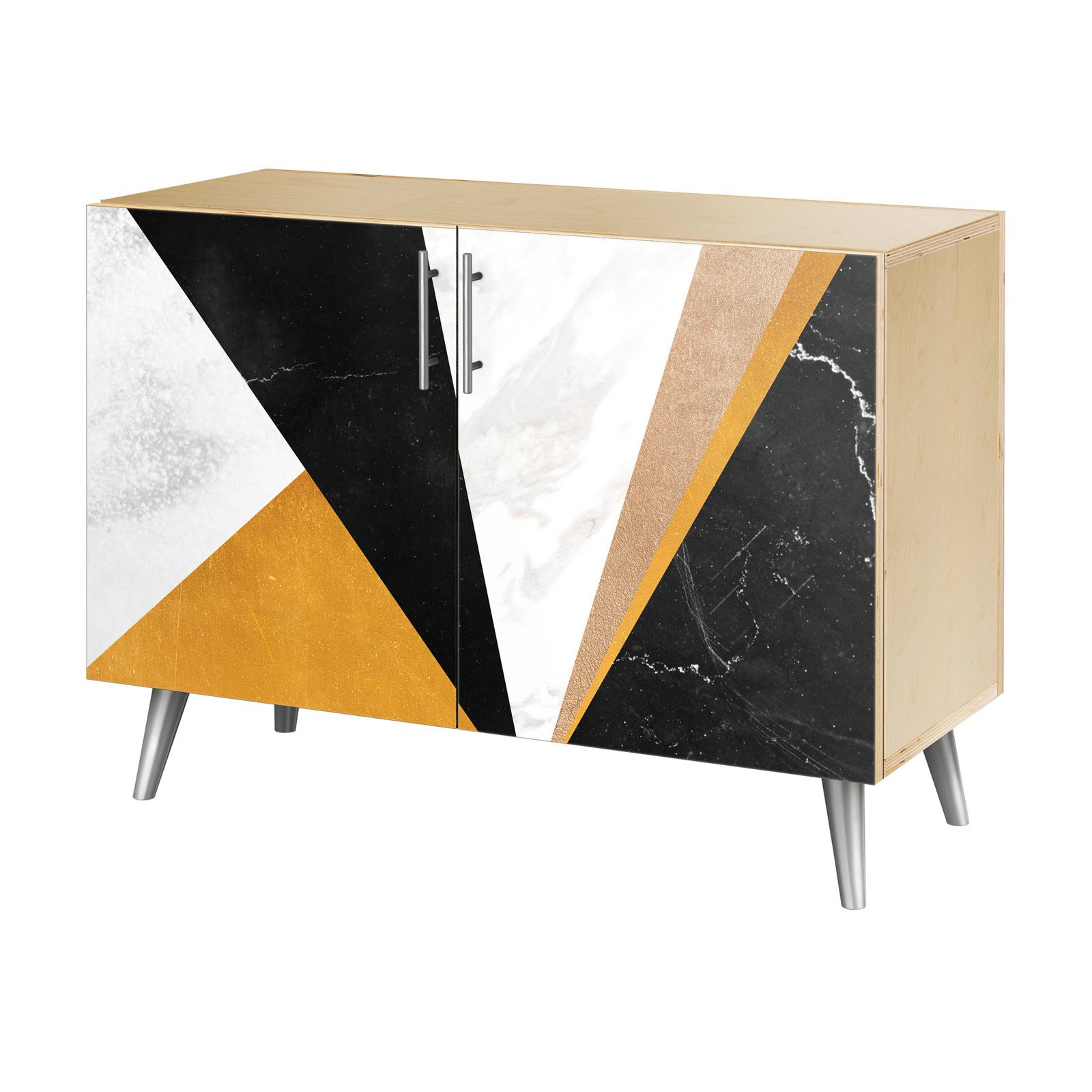 Nyekoncept Glamorous Geometry Flare Credenza | Products In Inside Line Geo Credenzas (View 14 of 20)