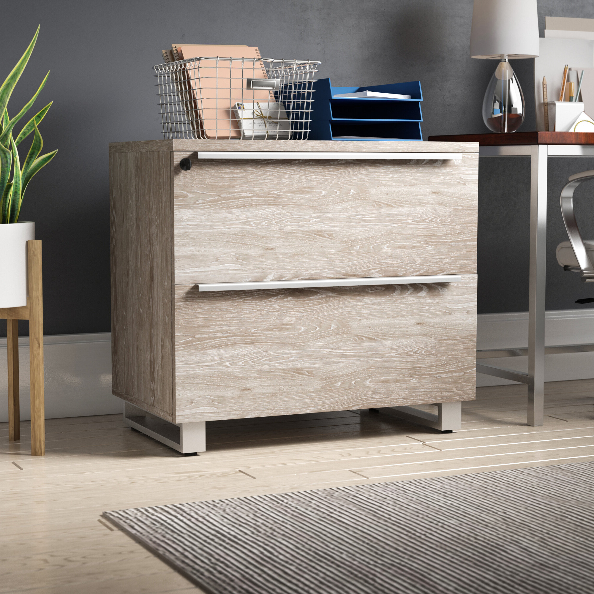 Ose 2 Drawer Lateral Filing Cabinet For 3 Drawer Titanium Buffets (View 18 of 20)