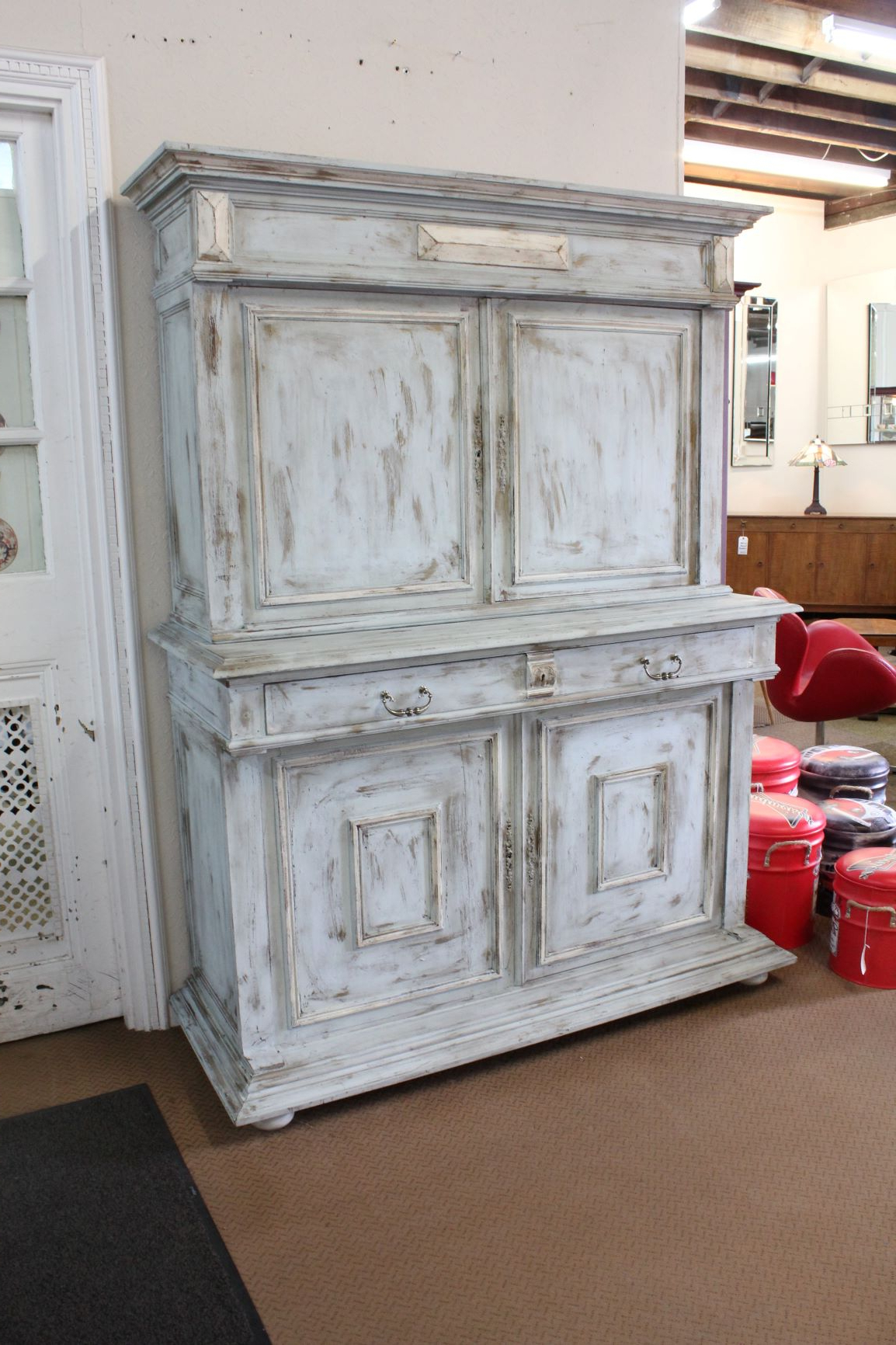 Painted French Oak Buffet Cabinet With Regard To French Oak Buffets (View 18 of 20)