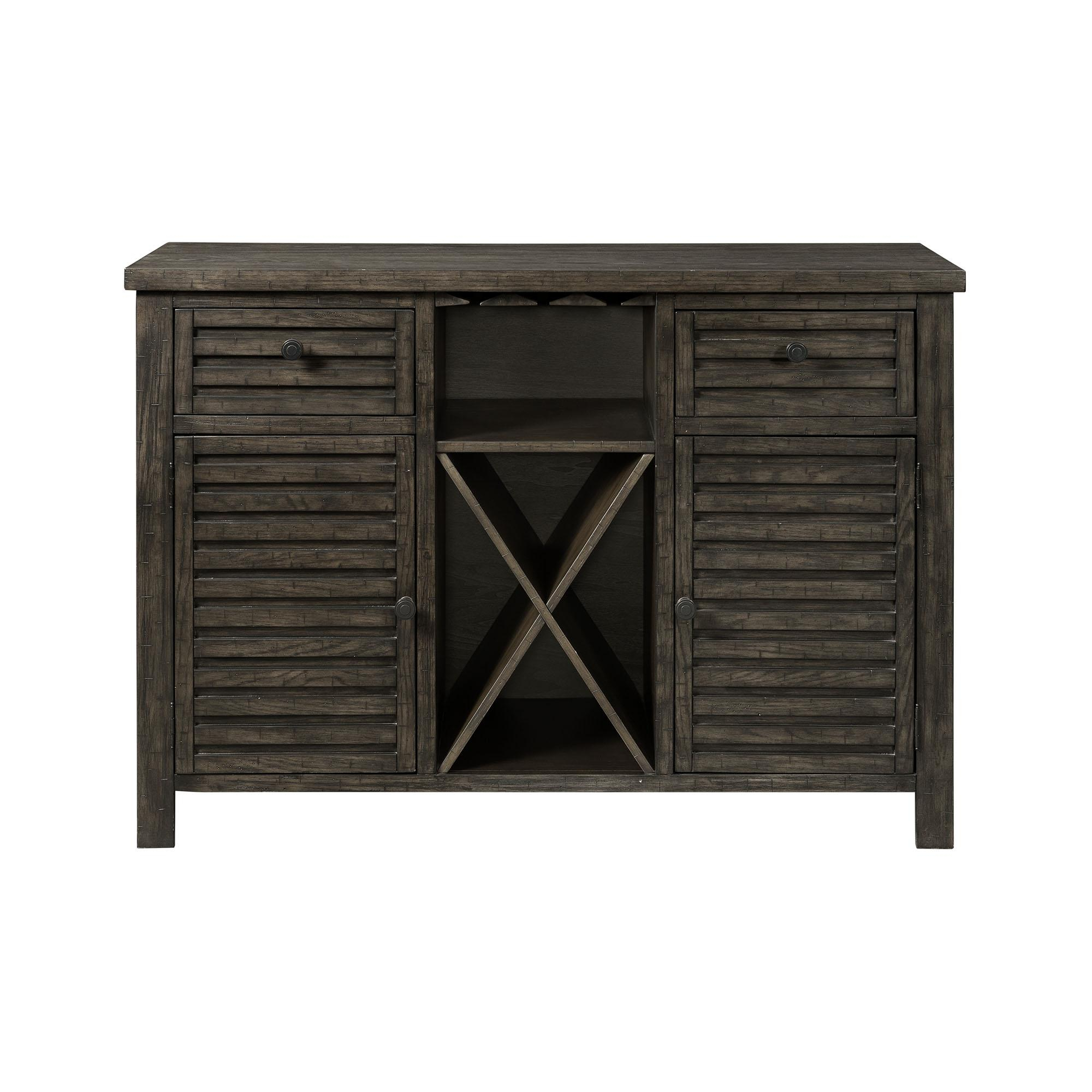 Picket House Montego Dark Walnut Wood 2 Drawers Server For Simple Living Montego Black Wooden Buffets (View 7 of 20)