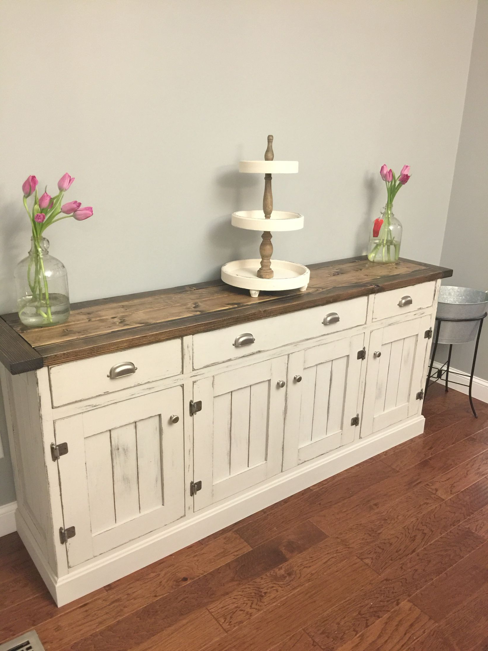 Pin On For The Home With Regard To Light White Oak Two Tone Modern Buffets (View 15 of 20)