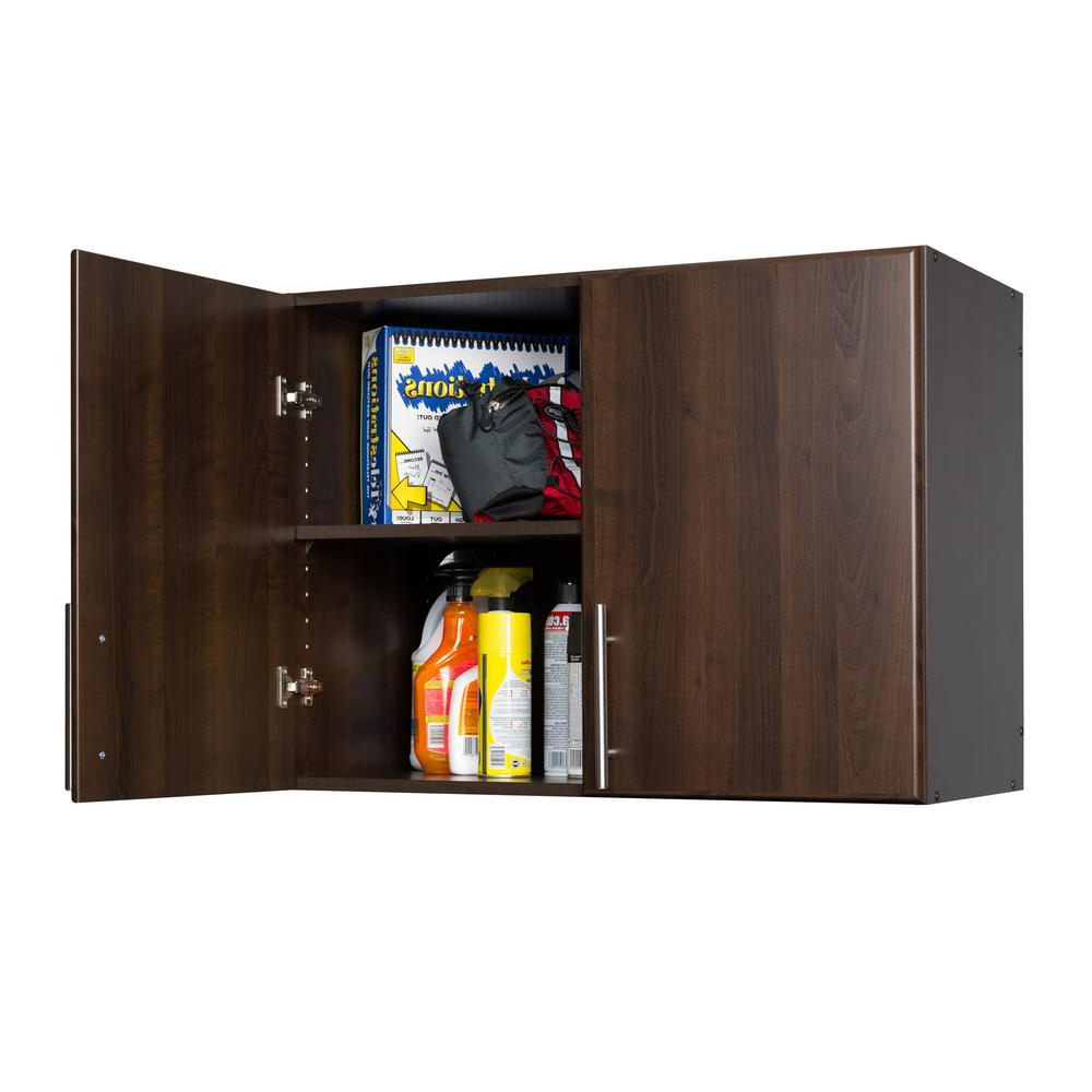 Prepac Elite Espresso Cabinet Eew 3224 – The Home Depot Intended For Espresso Sliding Door Stackable Buffets (View 13 of 20)