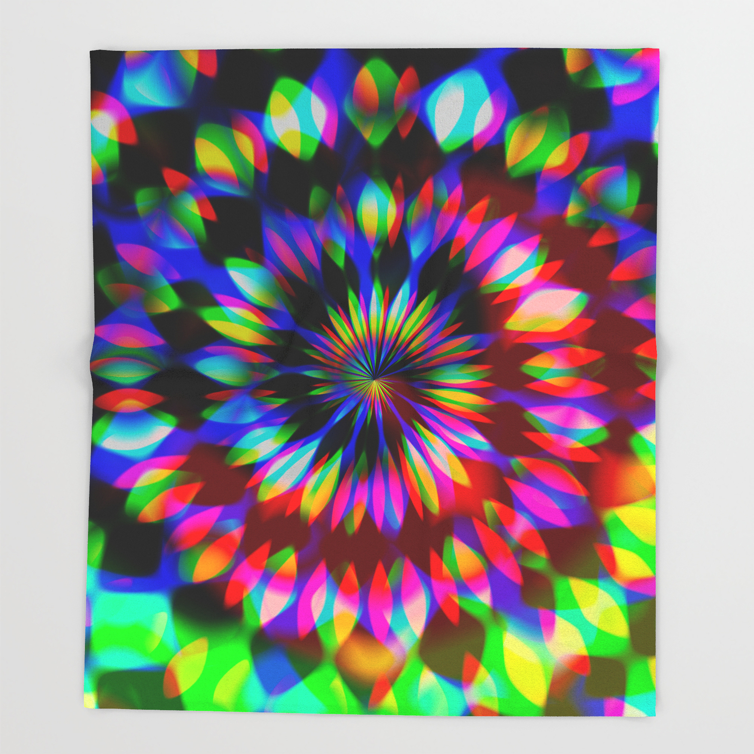 Psychedelic Rainbow Swirl Throw Blanket Throughout Symmetric Blue Swirl Credenzas (View 15 of 20)
