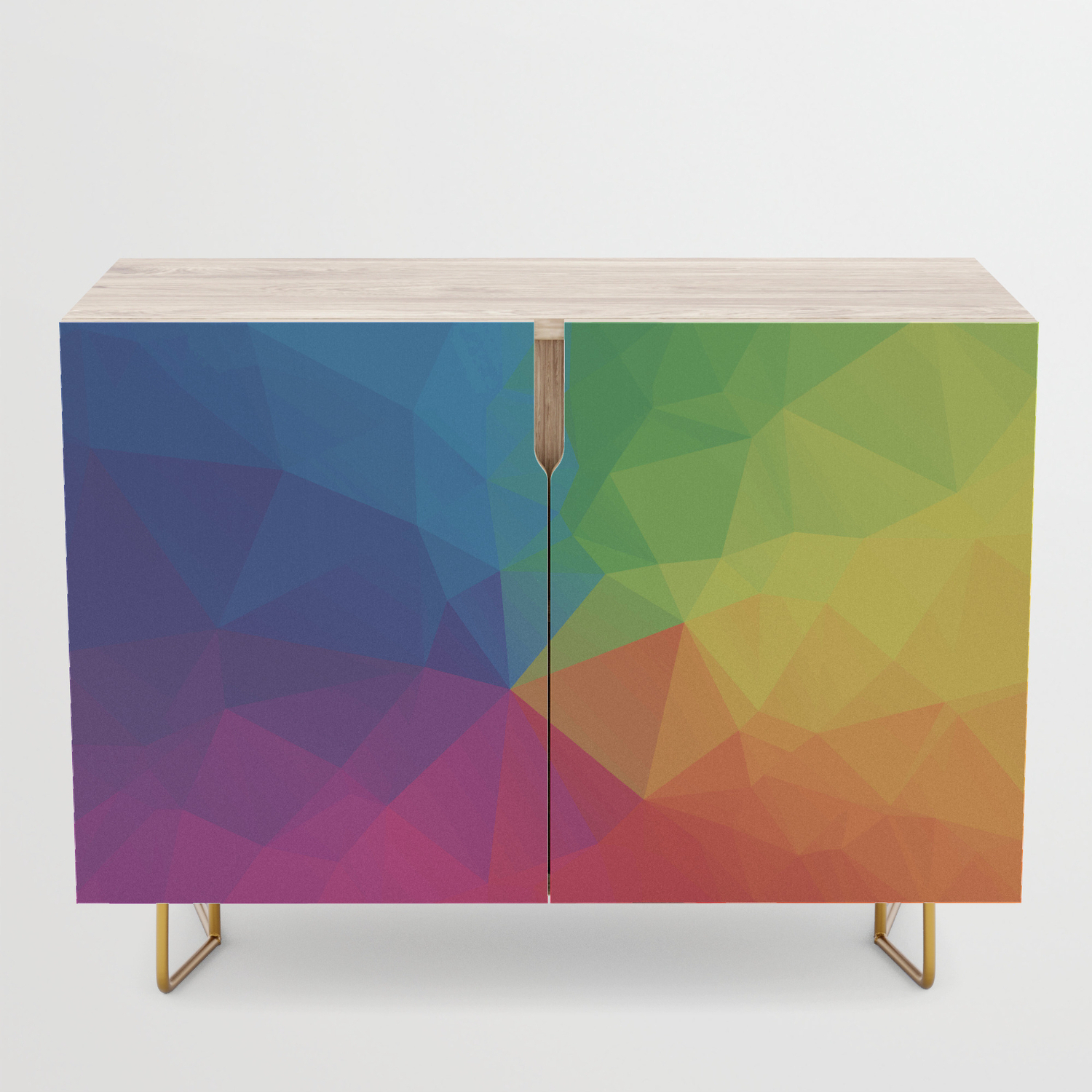 Rainbow Geometric Shapes Credenza With Multi Colored Geometric Shapes Credenzas (View 18 of 20)
