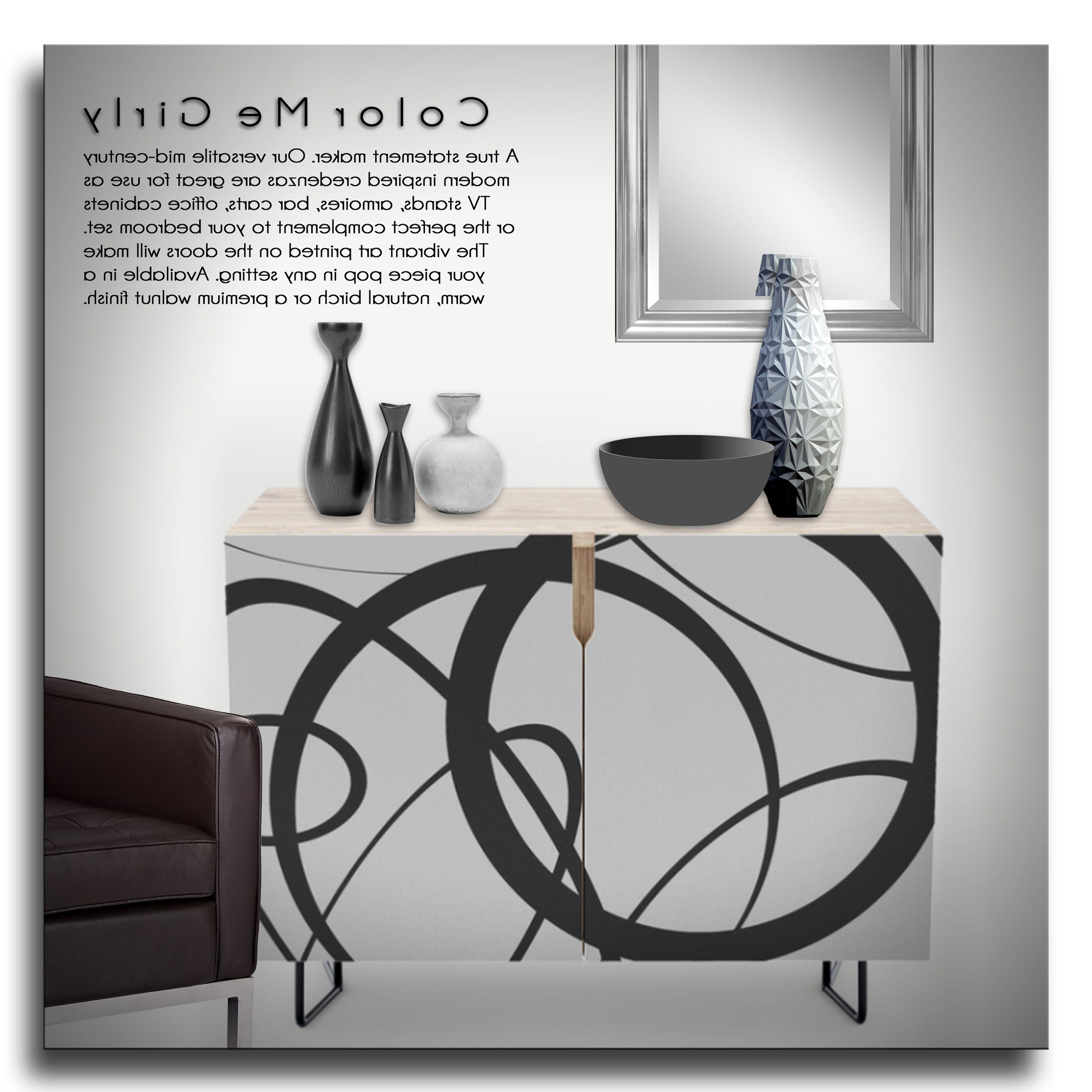 Random Abstract Shapes Credenza – Abstract, Shapes, Circle For Geometric Shapes Credenzas (View 5 of 20)