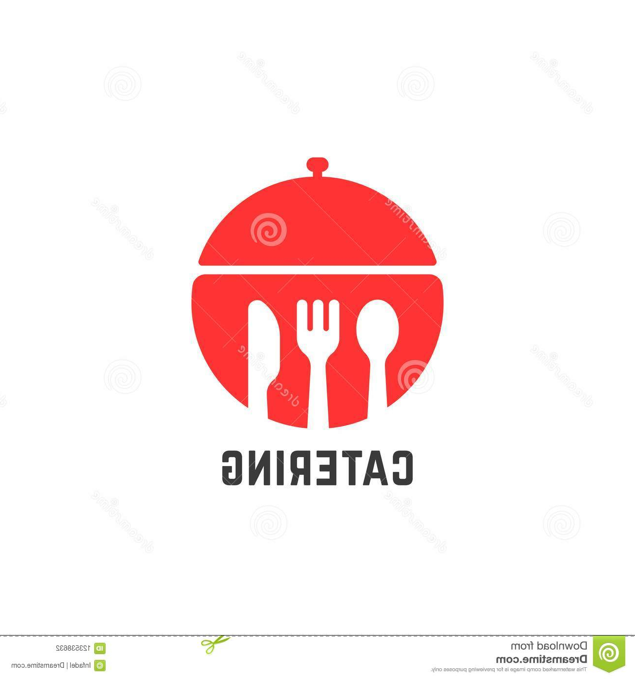 Red Catering Service Logo Isolated On White Stock Vector With Regard To Modern Red Buffets (View 16 of 20)