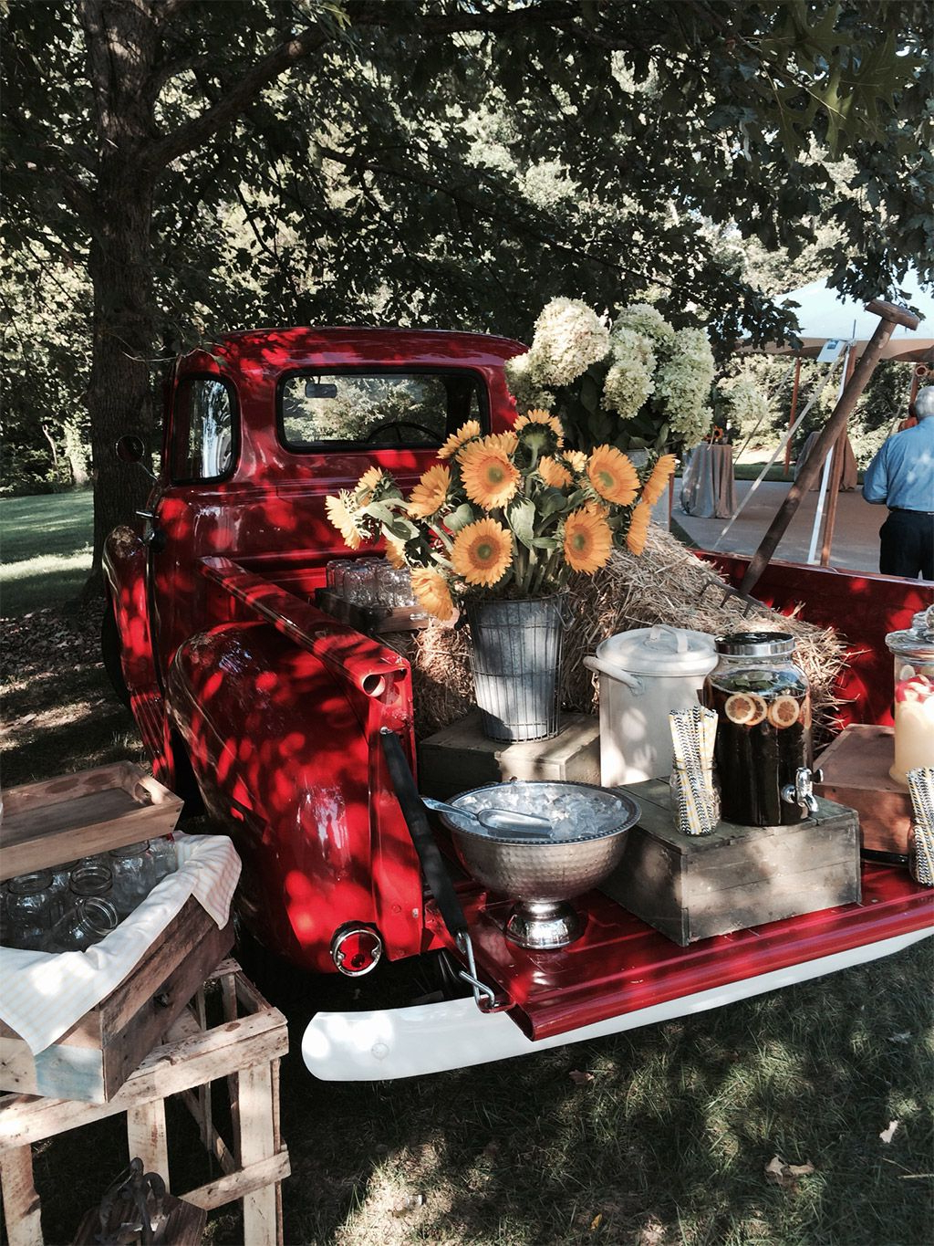 Red Truck Lemonade Stand   Stations & Buffets In 2019 Throughout Modern Red Buffets (View 17 of 20)