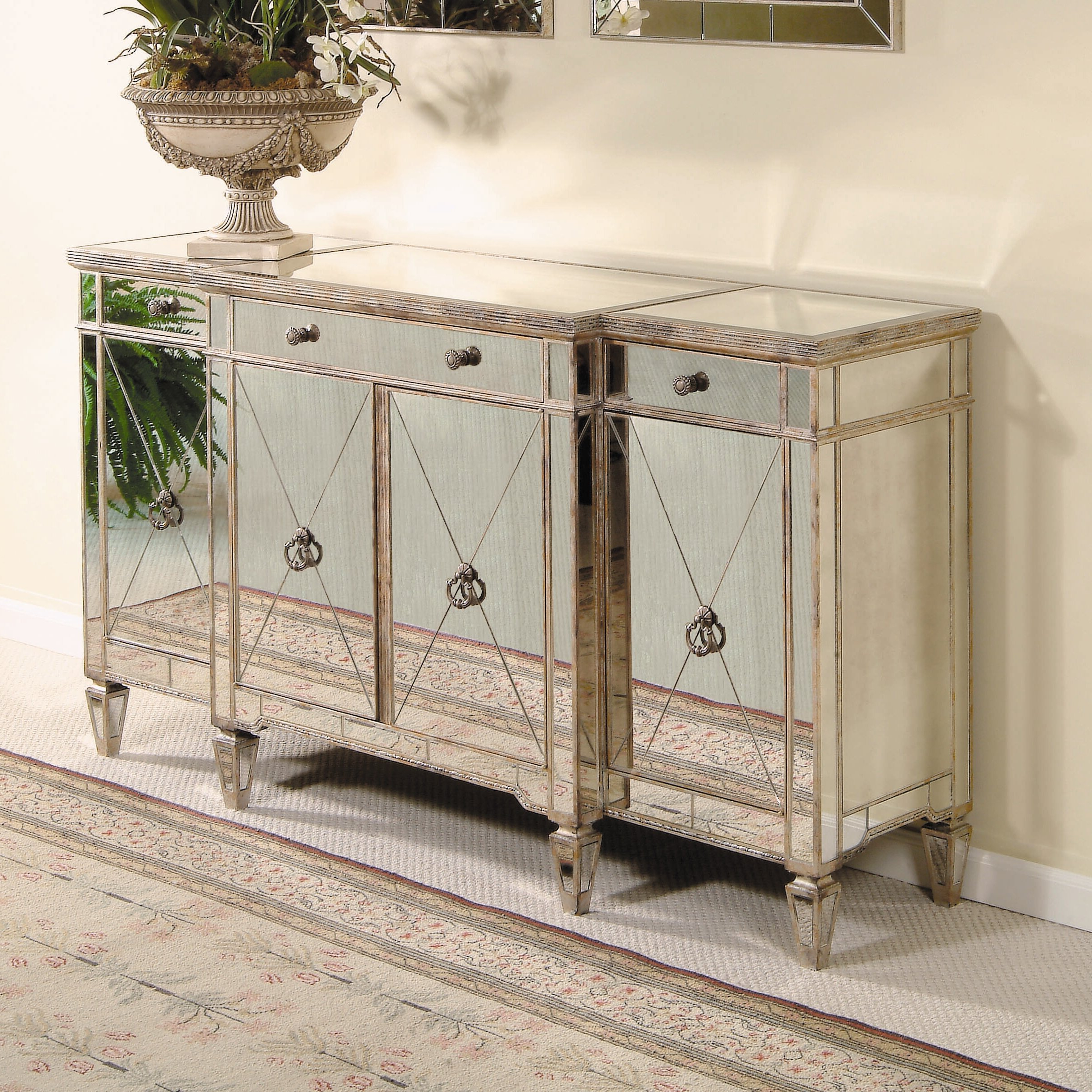 Roehl Mirrored Sideboard Intended For 3 Piece Mirrored Buffets (View 13 of 20)