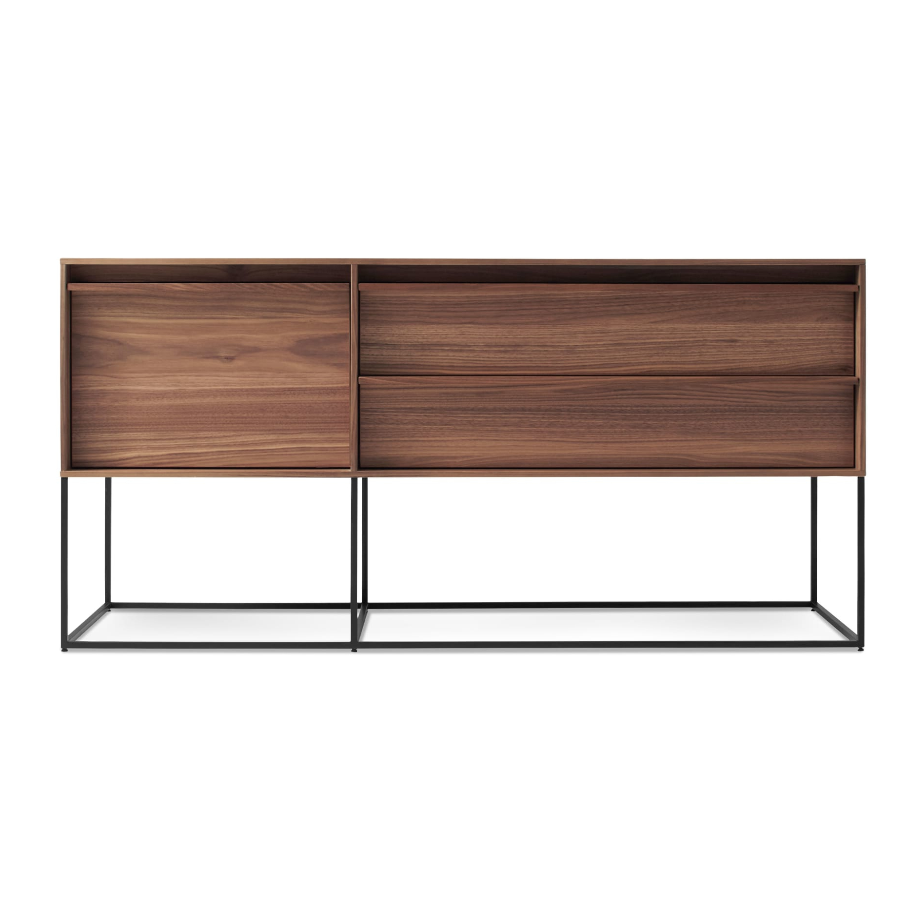 Rule 1 Door / 2 Drawer Console – Modern Console | Blu Dot With Regard To Geometric Shapes Credenzas (View 19 of 20)