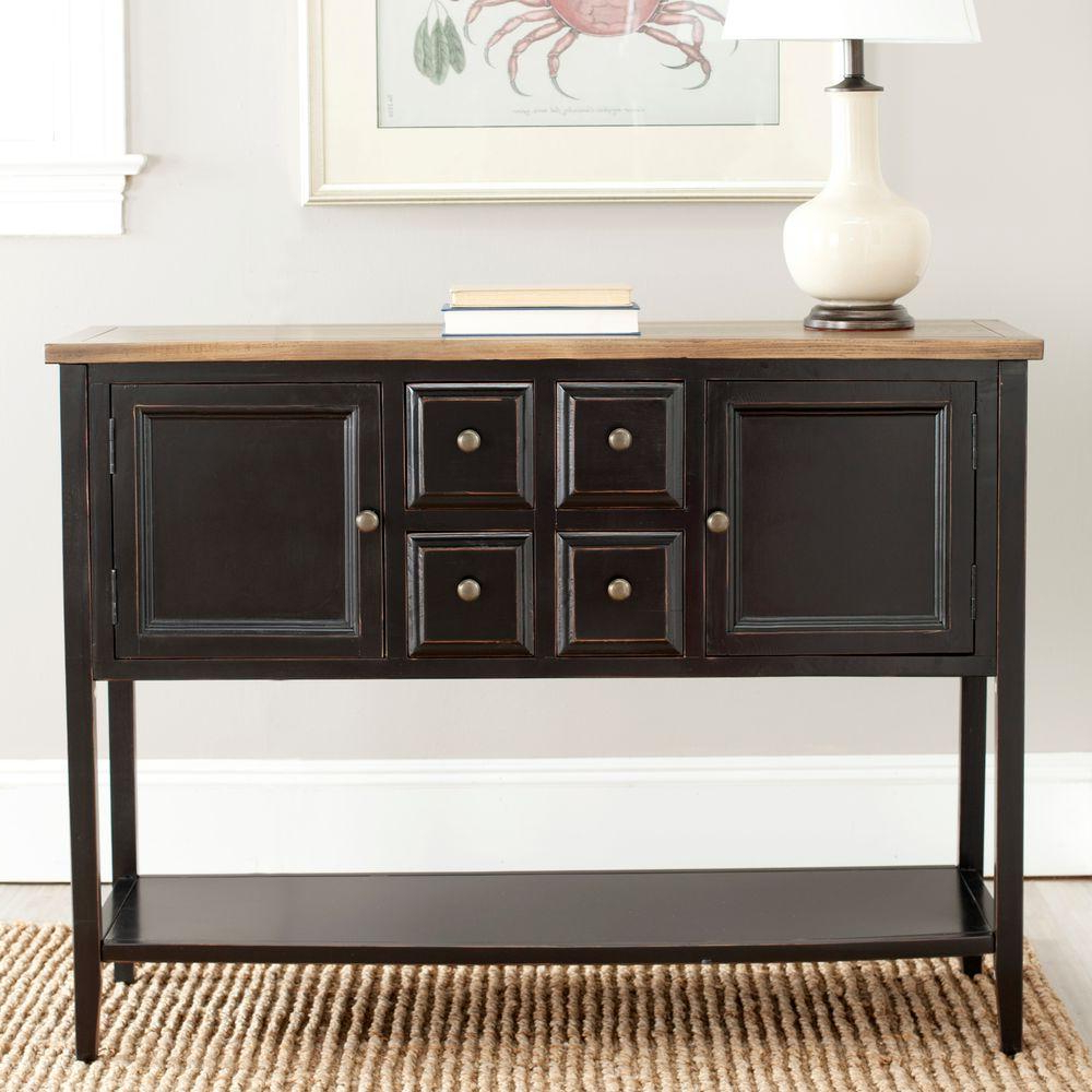 Safavieh Samantha Medium Oak Buffet With Storage Amh6517A For Medium Buffets With Wood Top (View 16 of 20)