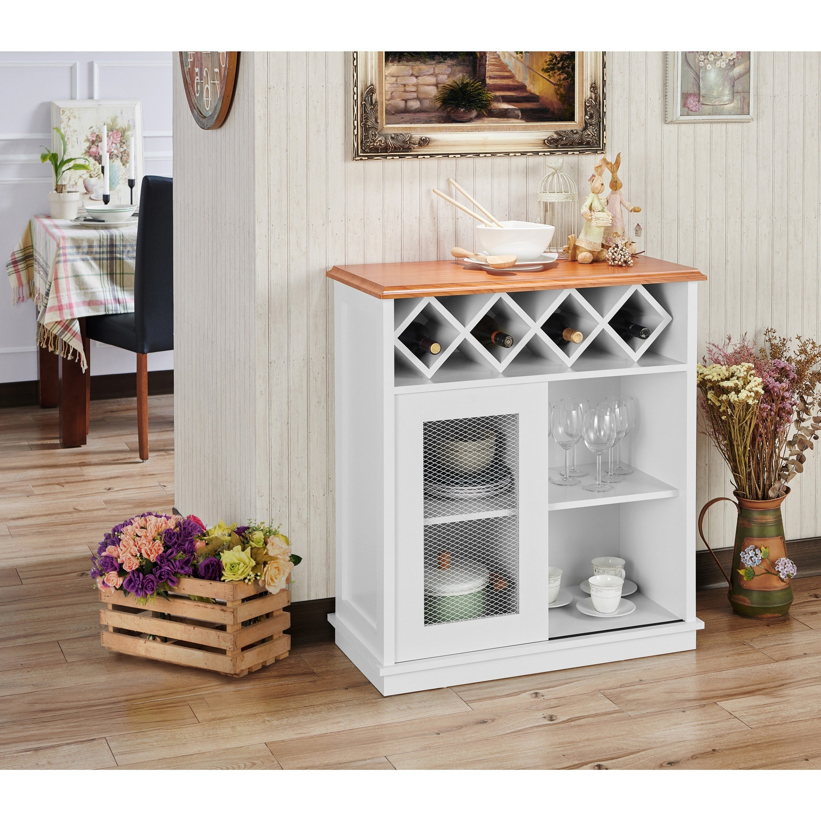 Featured Photo of Saucedo Rustic White Buffets