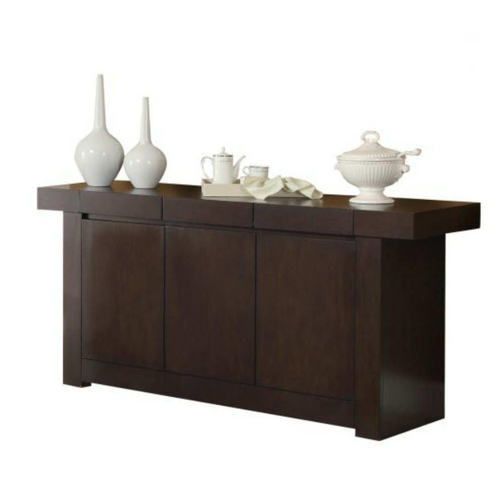 Sepanek Wooden Dining Sideboard In Solid And Composite Wood Buffets In Cappuccino Finish (View 17 of 20)