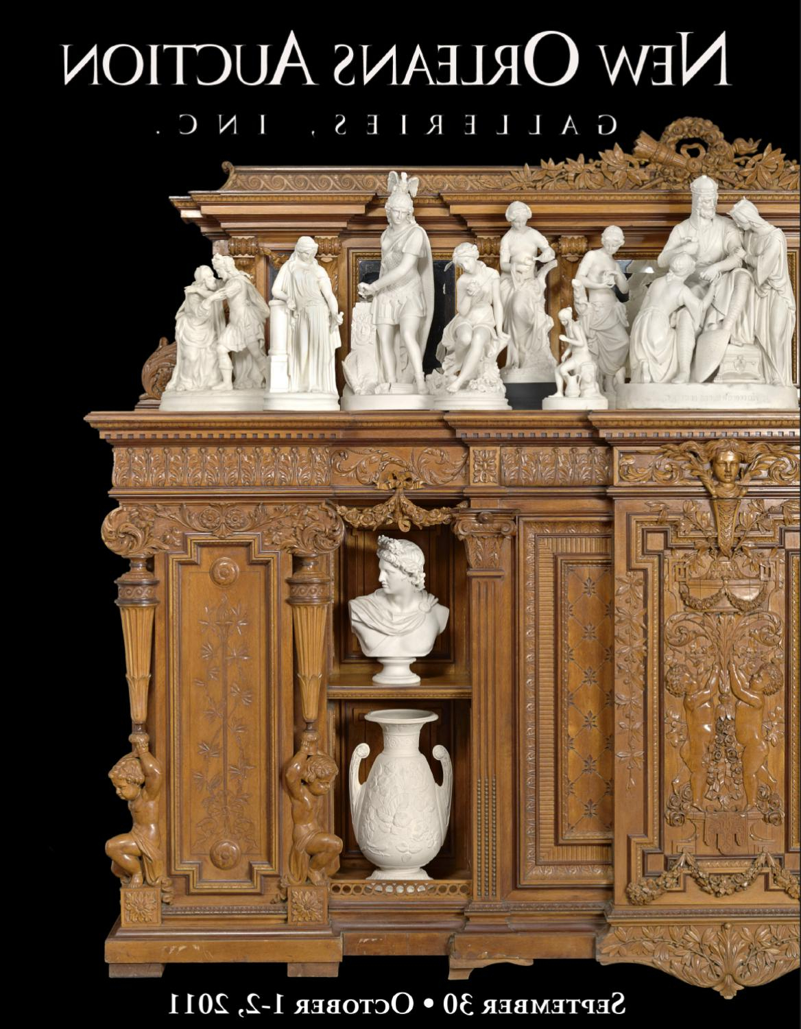 September 30, October 1 2, 2011New Orleans Auction Within Elephant Damask Paloma Credenzas (View 16 of 20)