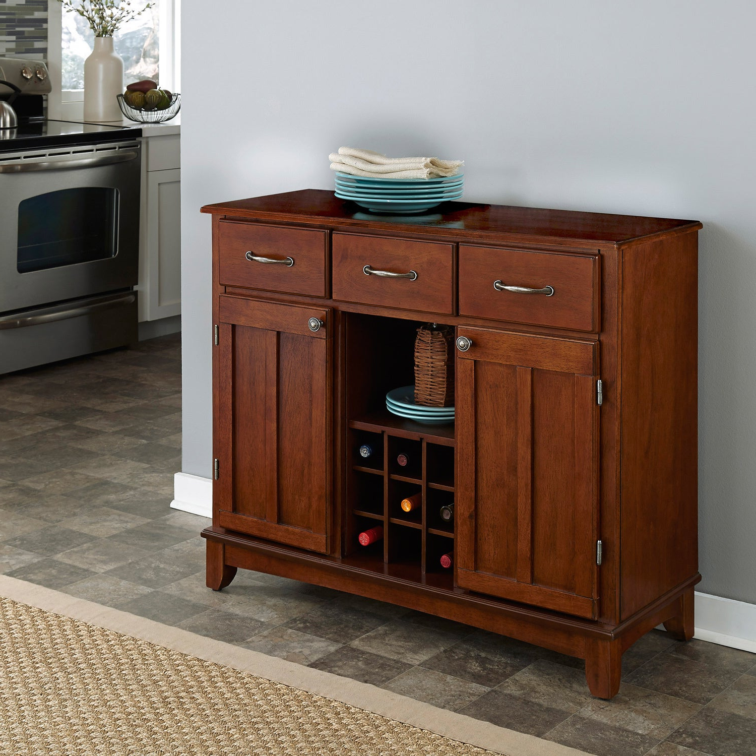 Featured Photo of Medium Cherry Buffets With Wood Top