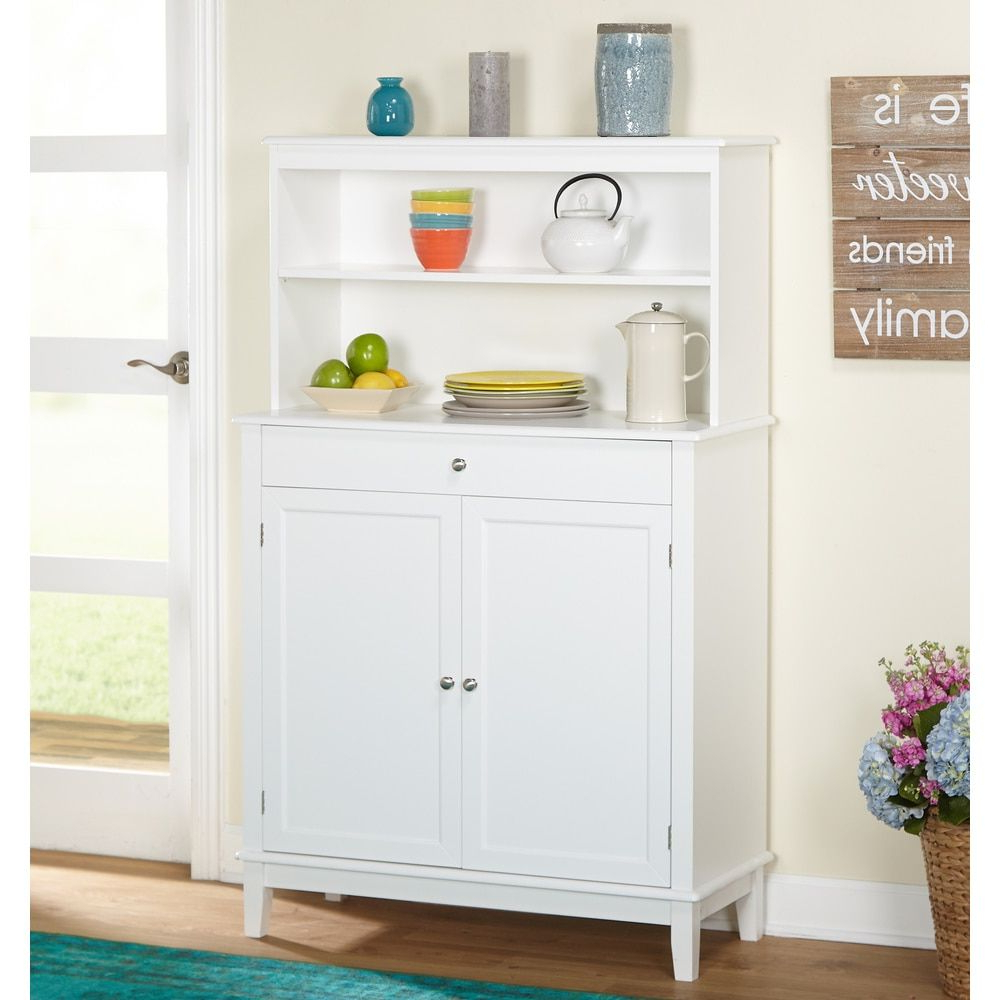 Simple Living Farmhouse Buffet With Hutch | Kitchen Re Do Intended For Simple Living Montego Two Door Buffets (View 9 of 20)