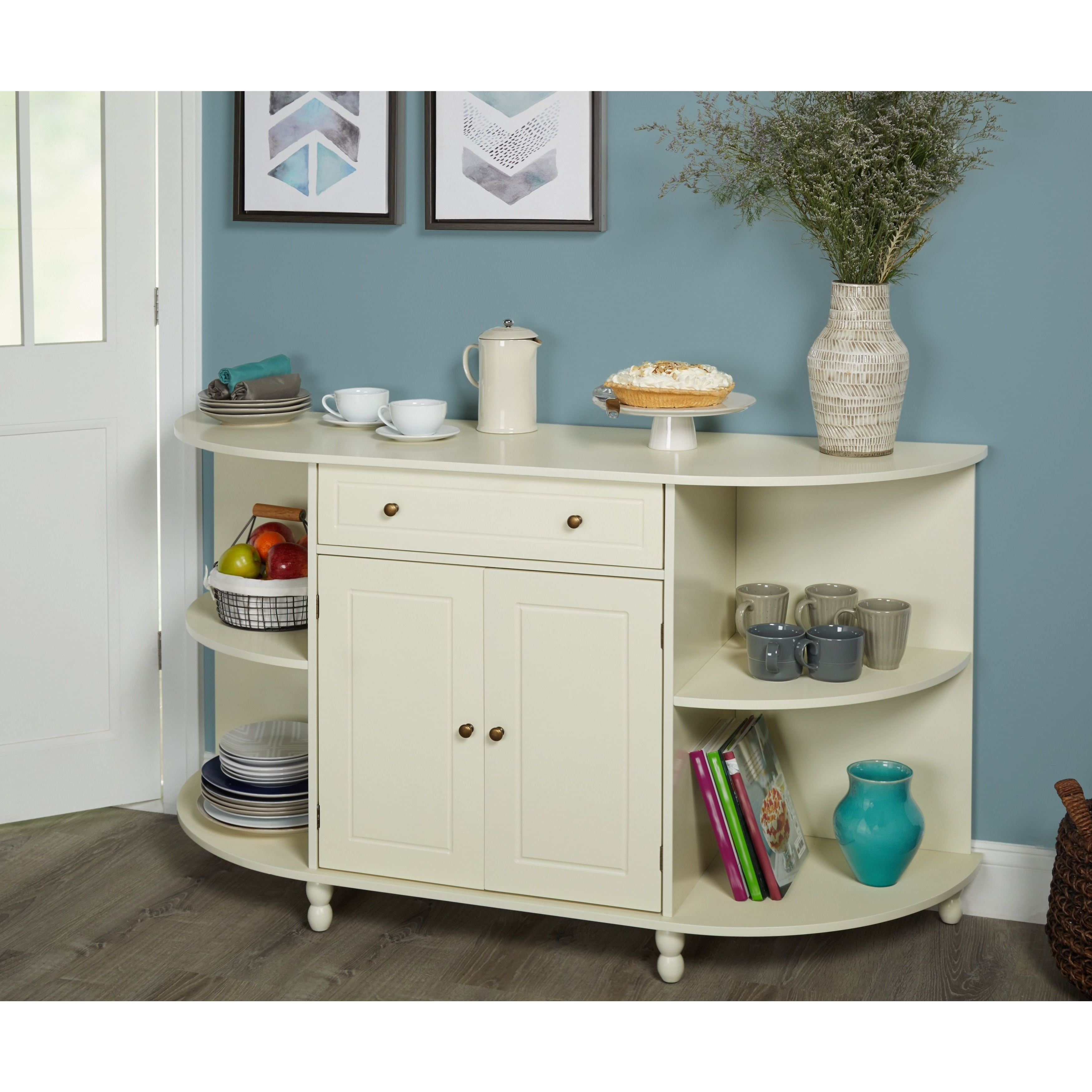 Simple Living Grace Buffet (antique White) | Products In Simple Living Antique White Kendall Buffets (View 11 of 20)