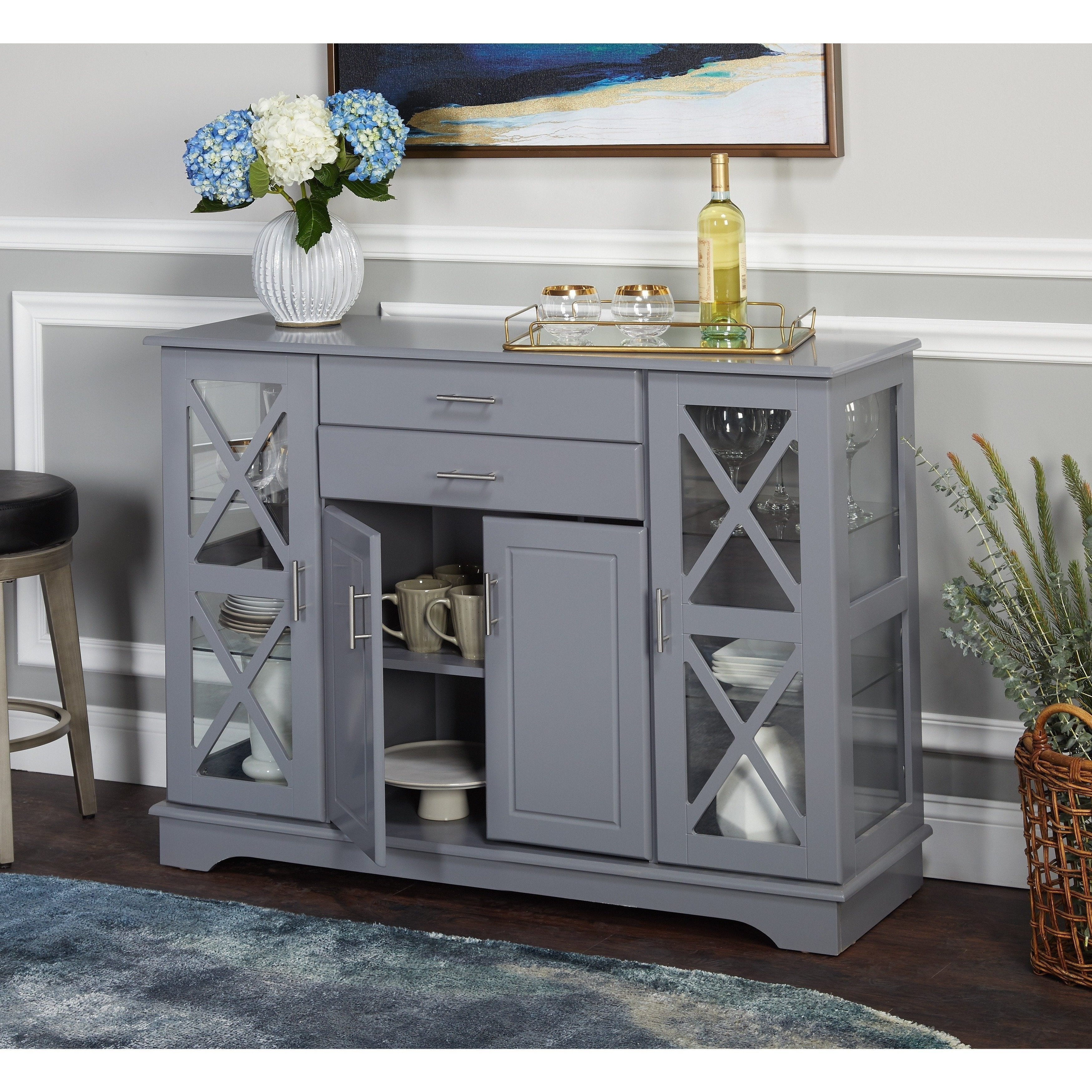 Simple Living Kendall Buffet Pertaining To Simple Living Antique White Kendall Buffets (View 7 of 20)