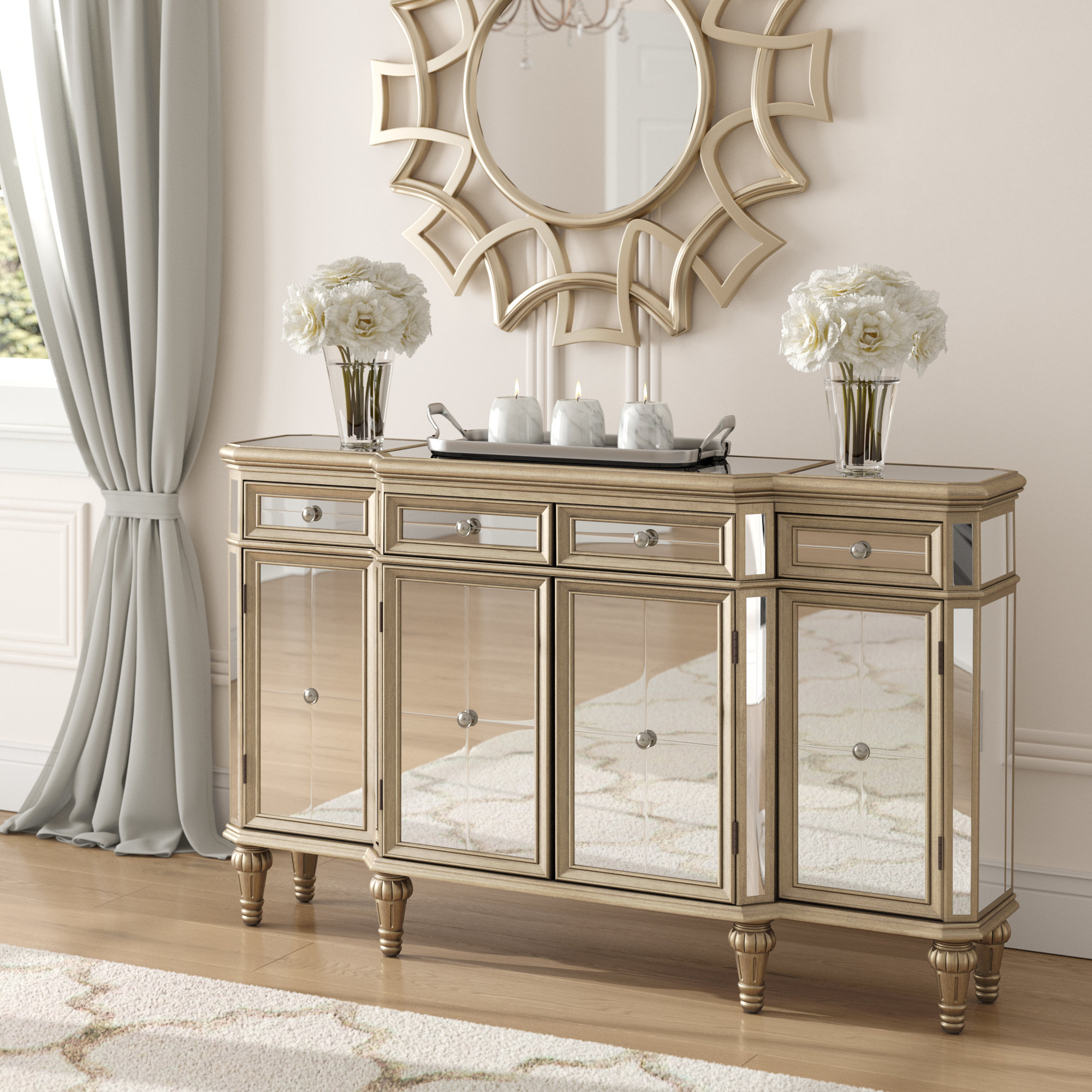 Simple Living Kendall Buffet | Wayfair Throughout Simple Living Antique White Kendall Buffets (View 16 of 20)