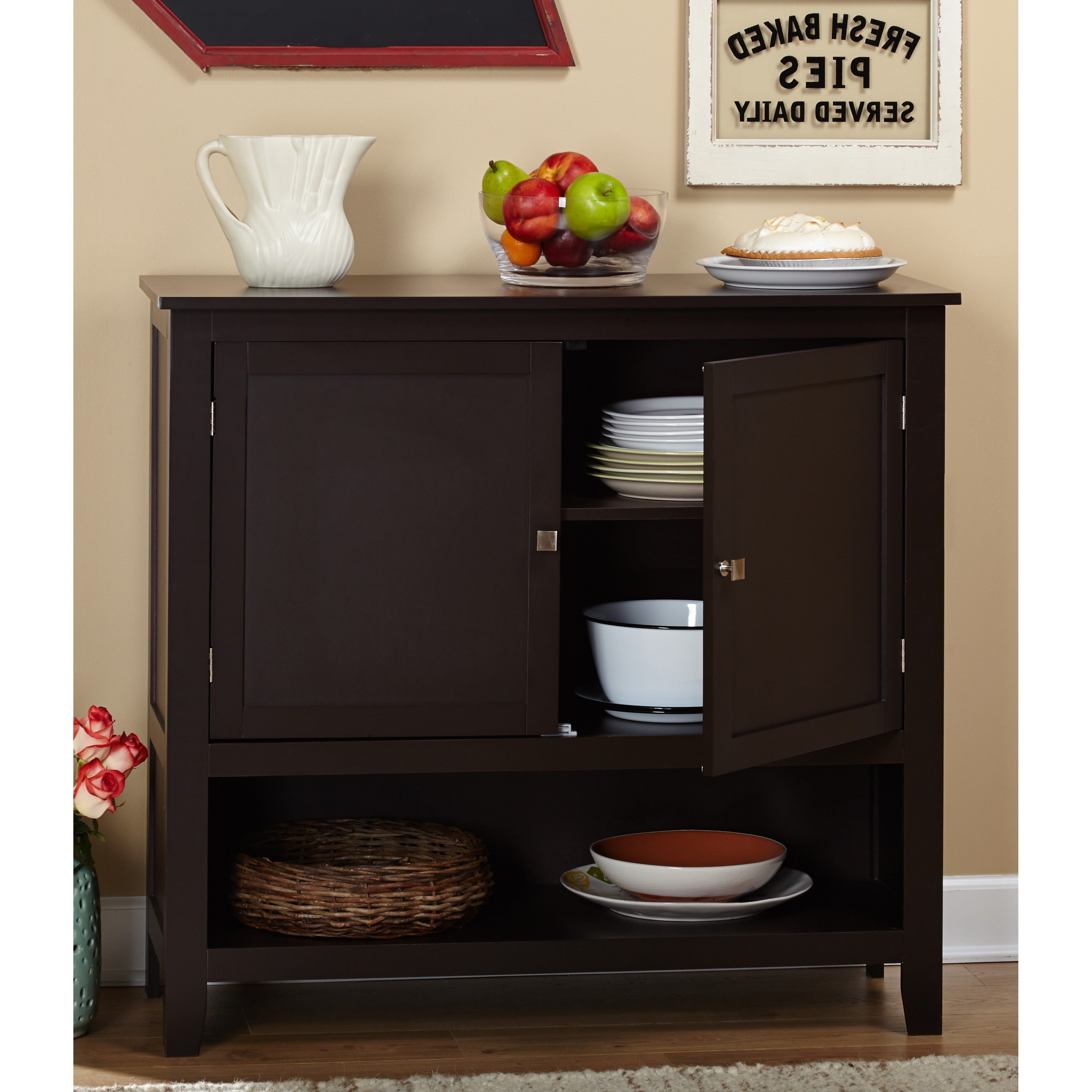 Simple Living Montego Espresso Wooden Buffet Intended For Simple Living Montego Two Door Buffets (View 3 of 20)