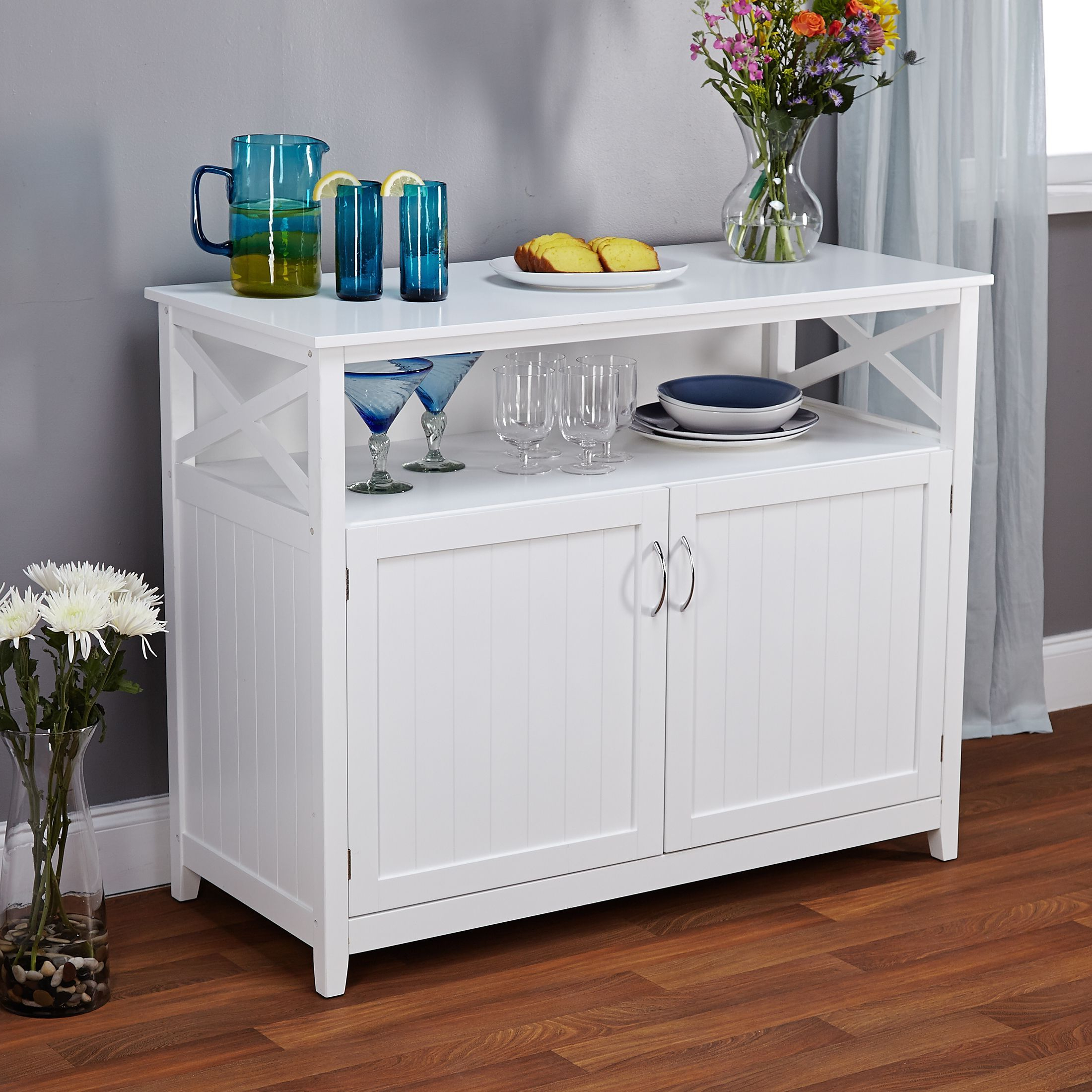 Simple Living Southport White Beadboard Buffet In 2019 Inside Simple Living Southport Dining Buffets (View 16 of 20)