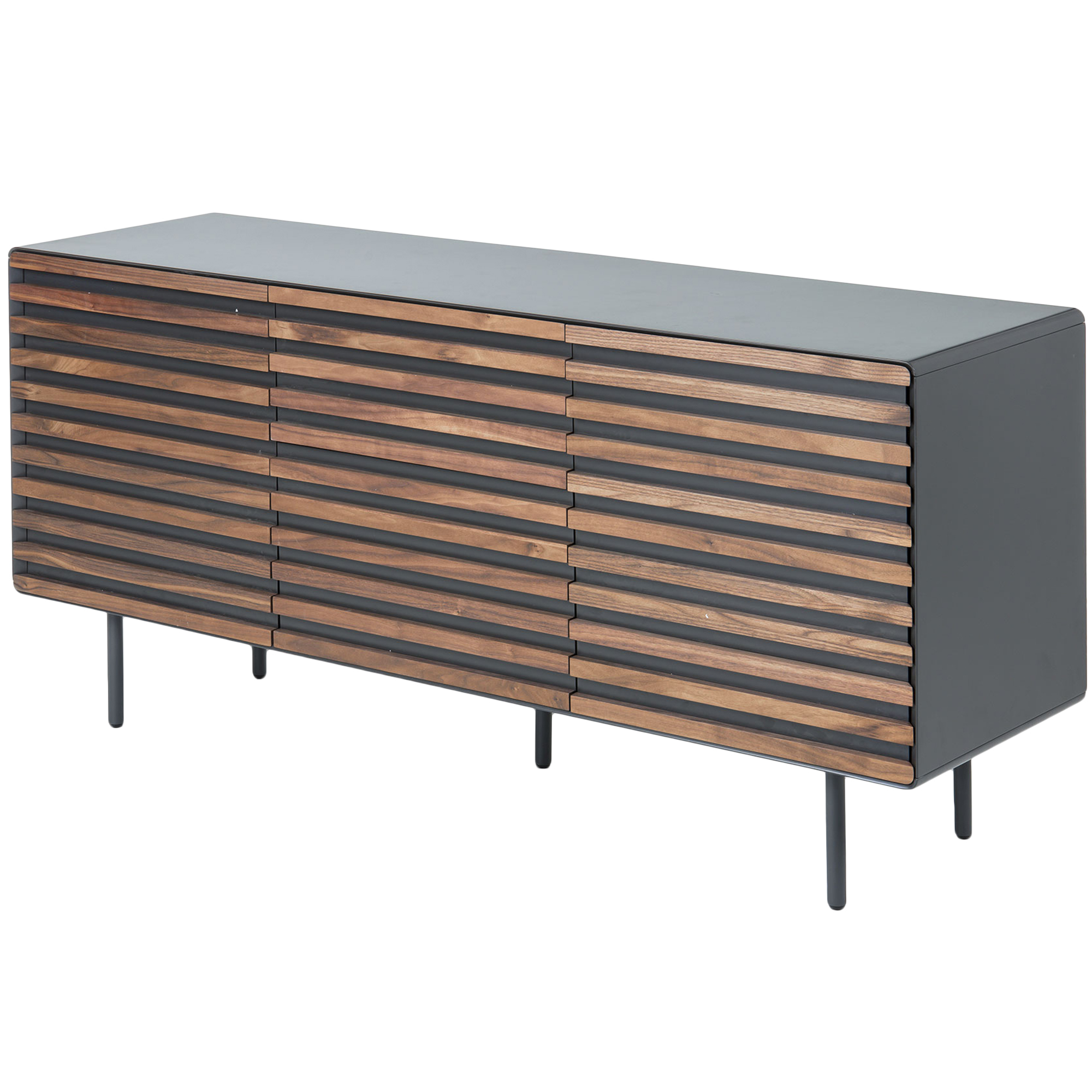 Slatted Ekko Buffet Intended For 2 Shelf Buffets With Curved Legs (View 16 of 20)