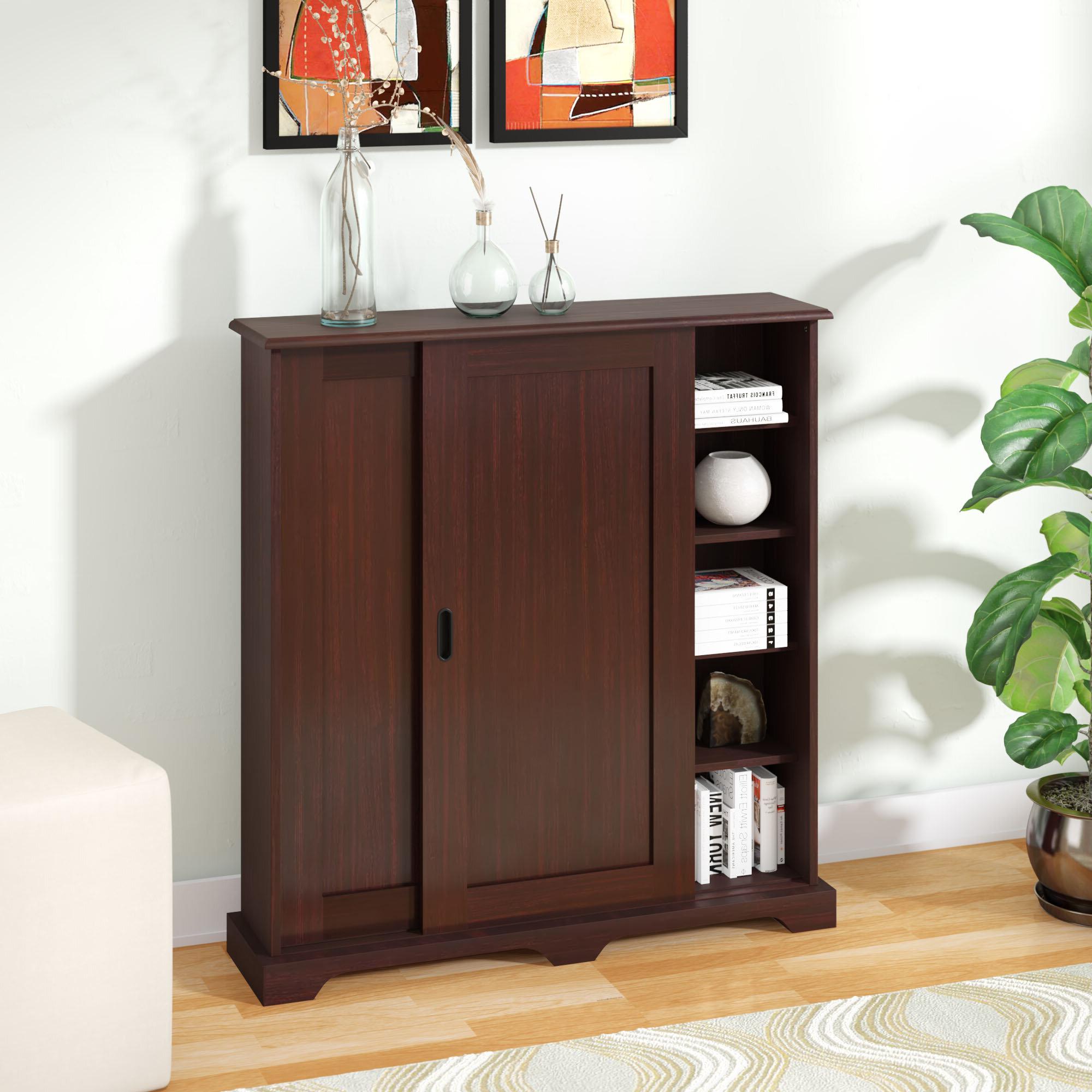 Sliding Door Stackable Cabinet | Wayfair Inside Espresso Sliding Door Stackable Buffets (View 16 of 20)