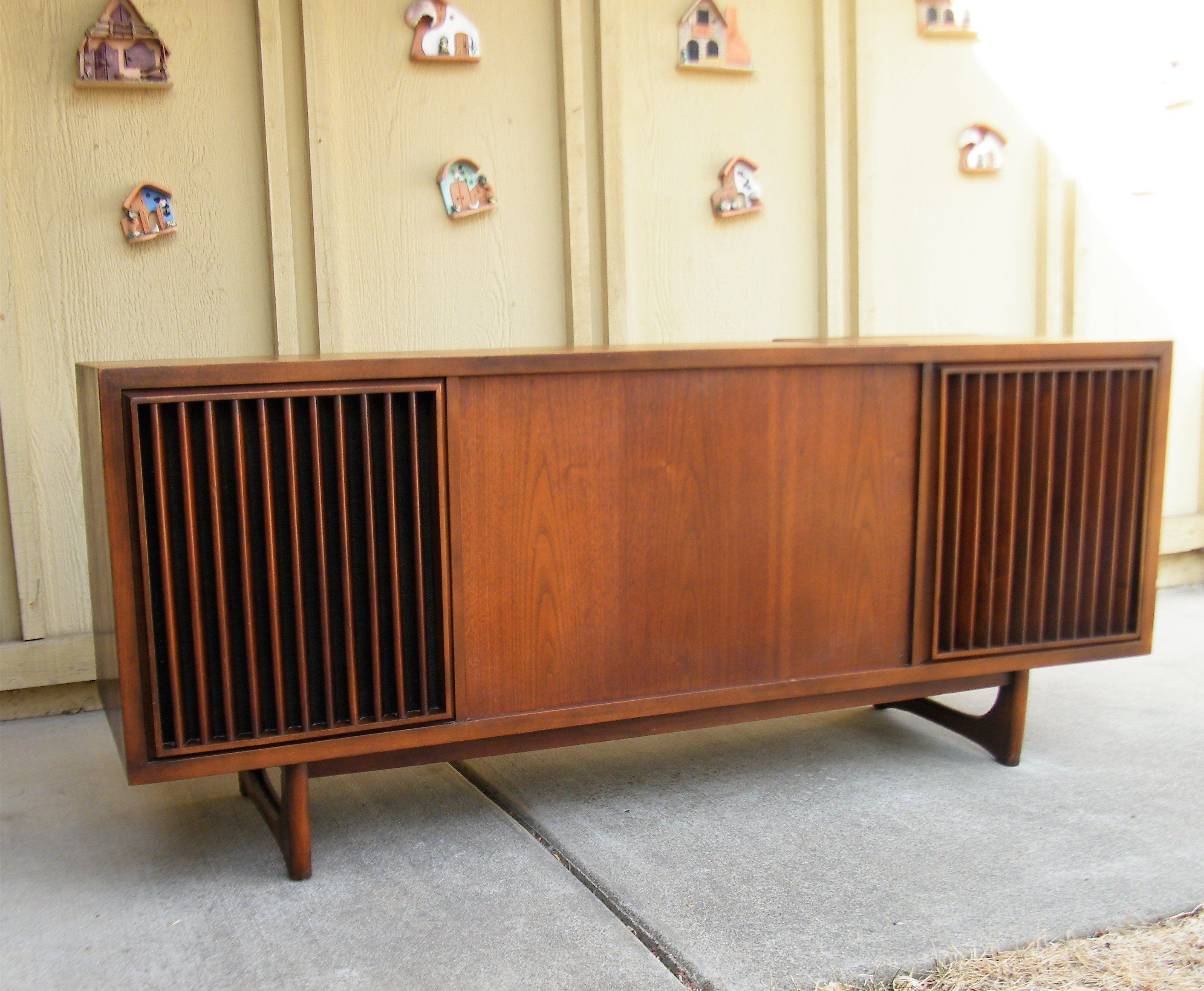Sold – Mid Century Rca Victor Stereo Console – Sold Intended For Retro Holistic Credenzas (View 6 of 20)