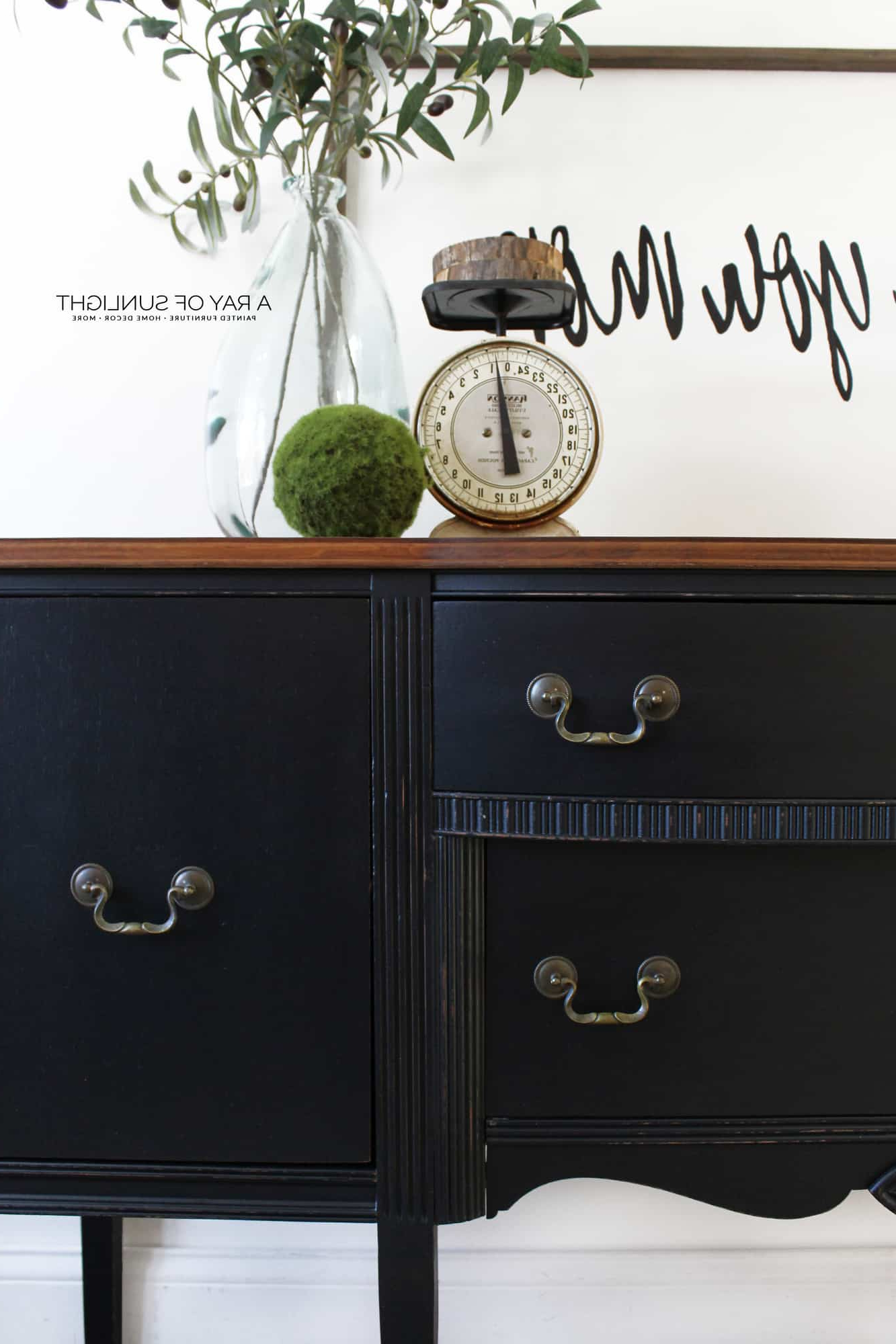 Sold – The Black Buffet – Free Shipping Intended For Rustic Black 2 Drawer Buffets (View 7 of 20)