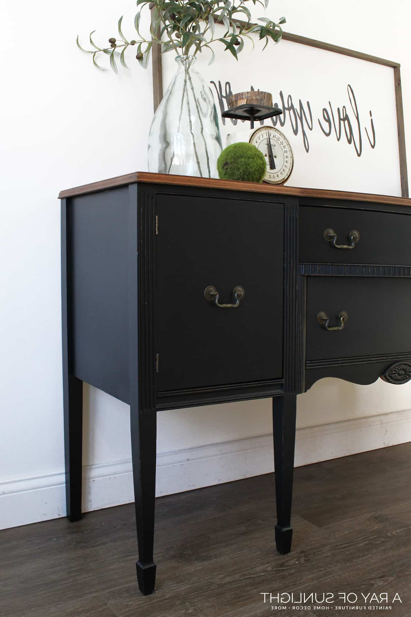 Sold – The Black Buffet – Free Shipping Pertaining To Rustic Black 2 Drawer Buffets (View 9 of 20)