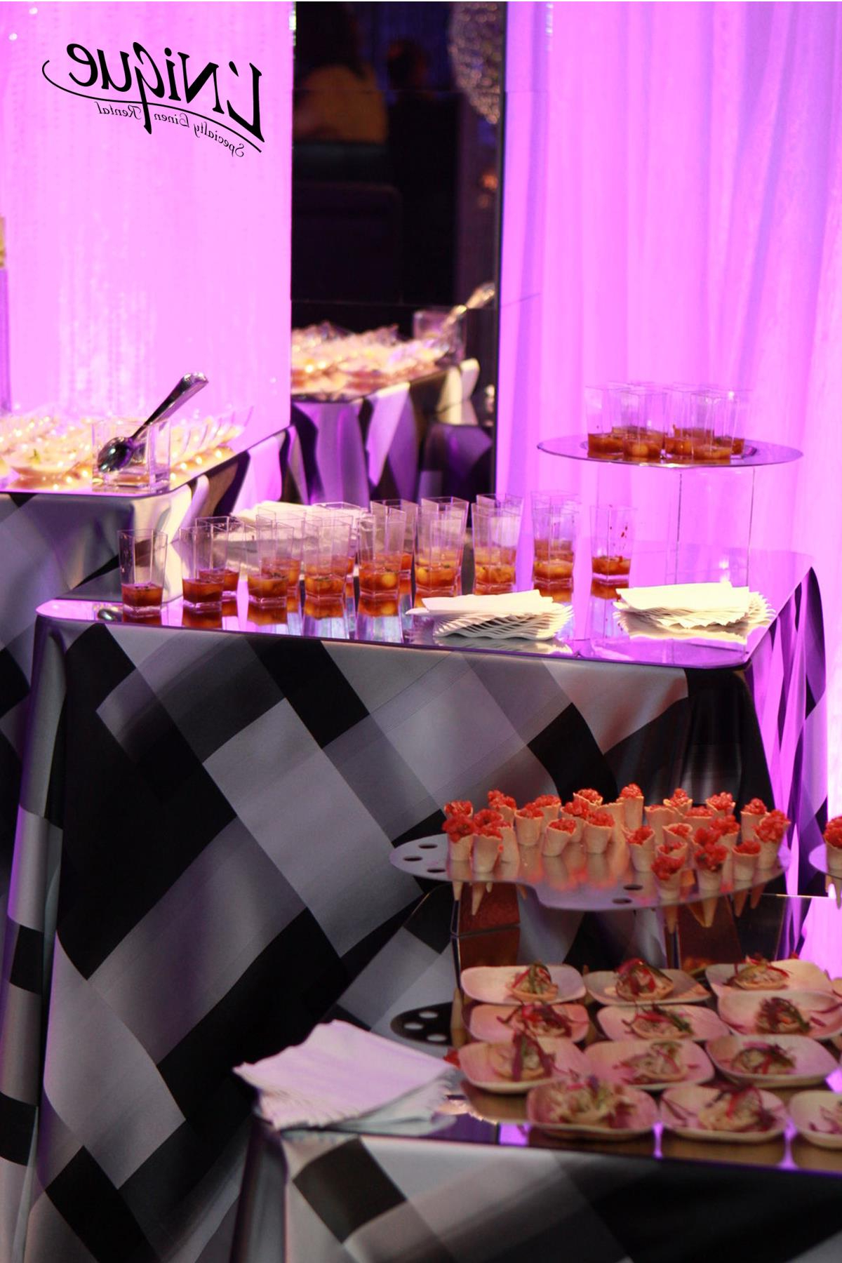 Sophistication Geometric Tablecloth – Black & White Regarding Pink And White Geometric Buffets (View 20 of 20)