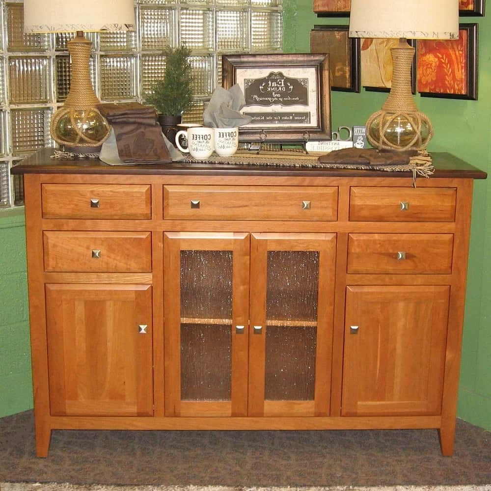 St Croix Beveled Style Buffet, Shown In Sap Cherry With A Two Tone Tavern  And S 2 Finish With Regard To Buffets With Cherry Finish (View 20 of 20)