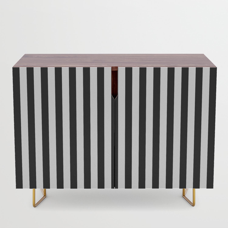 Stripe Black & White Vertical Credenza With Regard To Beach Stripes Credenzas (View 4 of 20)