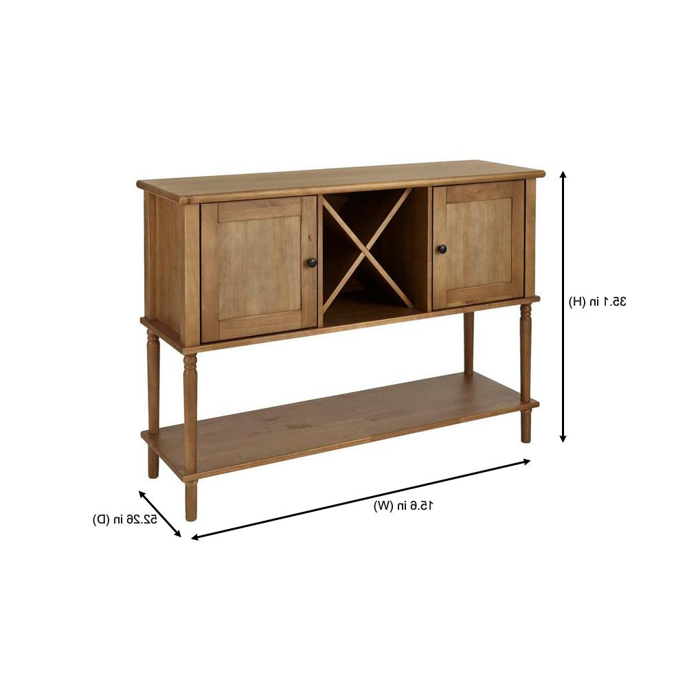 Stylewell Stylewell Patina Oak Finish Wood Buffet Table With Inside Contemporary Wooden Buffets With Four Open Compartments And Metal Tapered Legs (View 19 of 20)