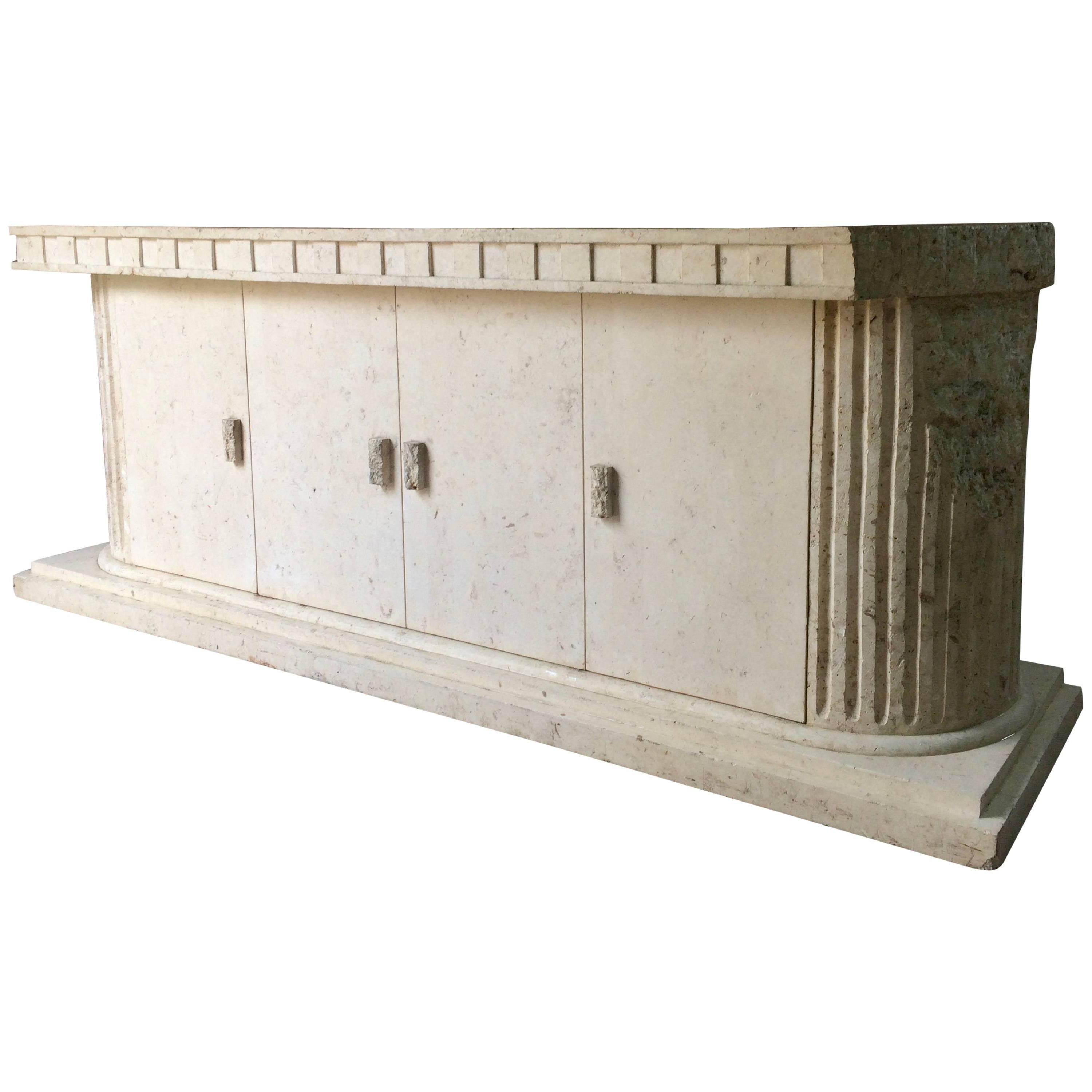 Sublime Sideboard Credenza Composite Marble Parthenon Greek Style Fluted  Columns Within Ocean Marble Credenzas (View 18 of 20)