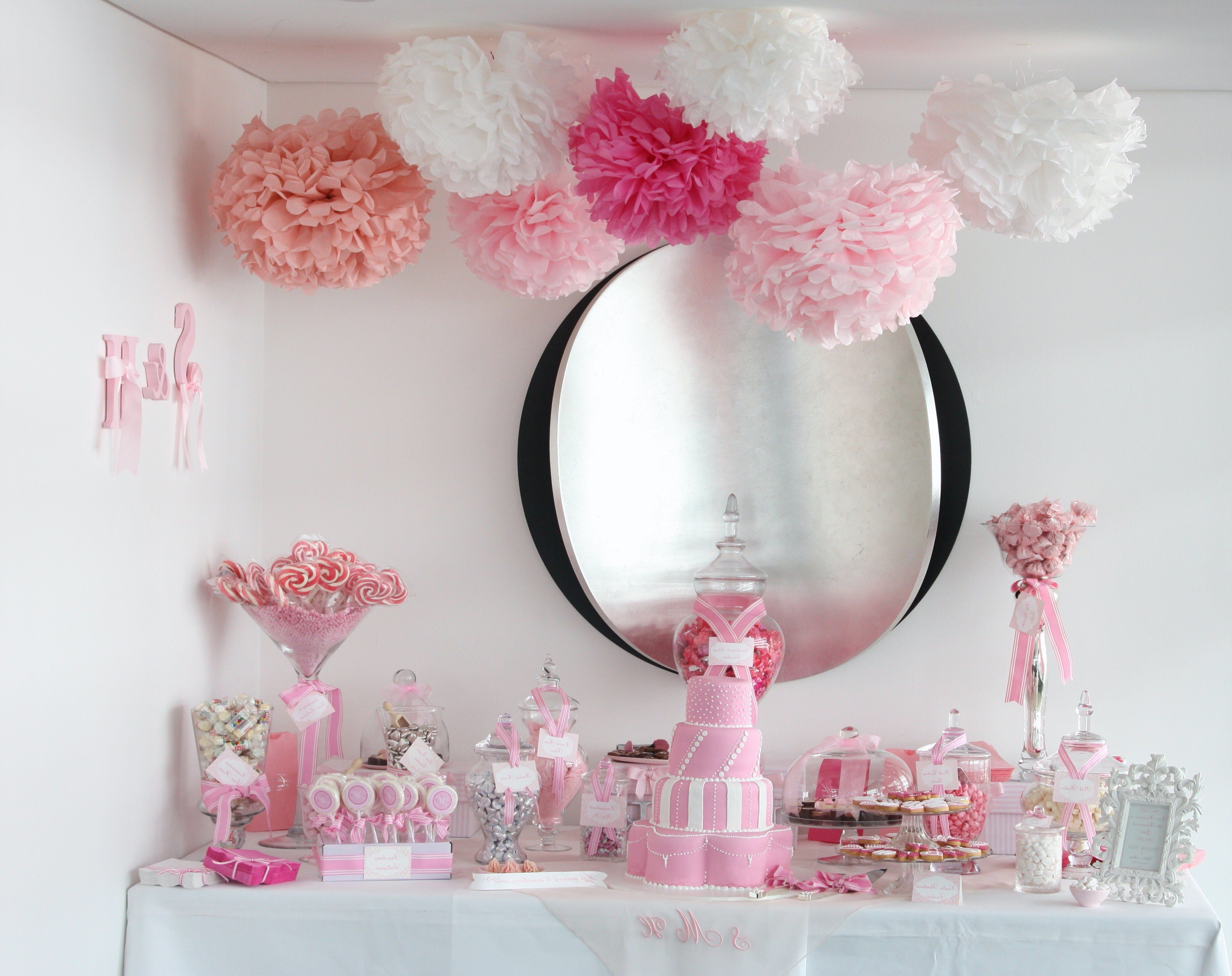 Sugarcoated Pink And White Candy Buffet – The Sweetest Occasion With Pink And White Geometric Buffets (View 7 of 20)