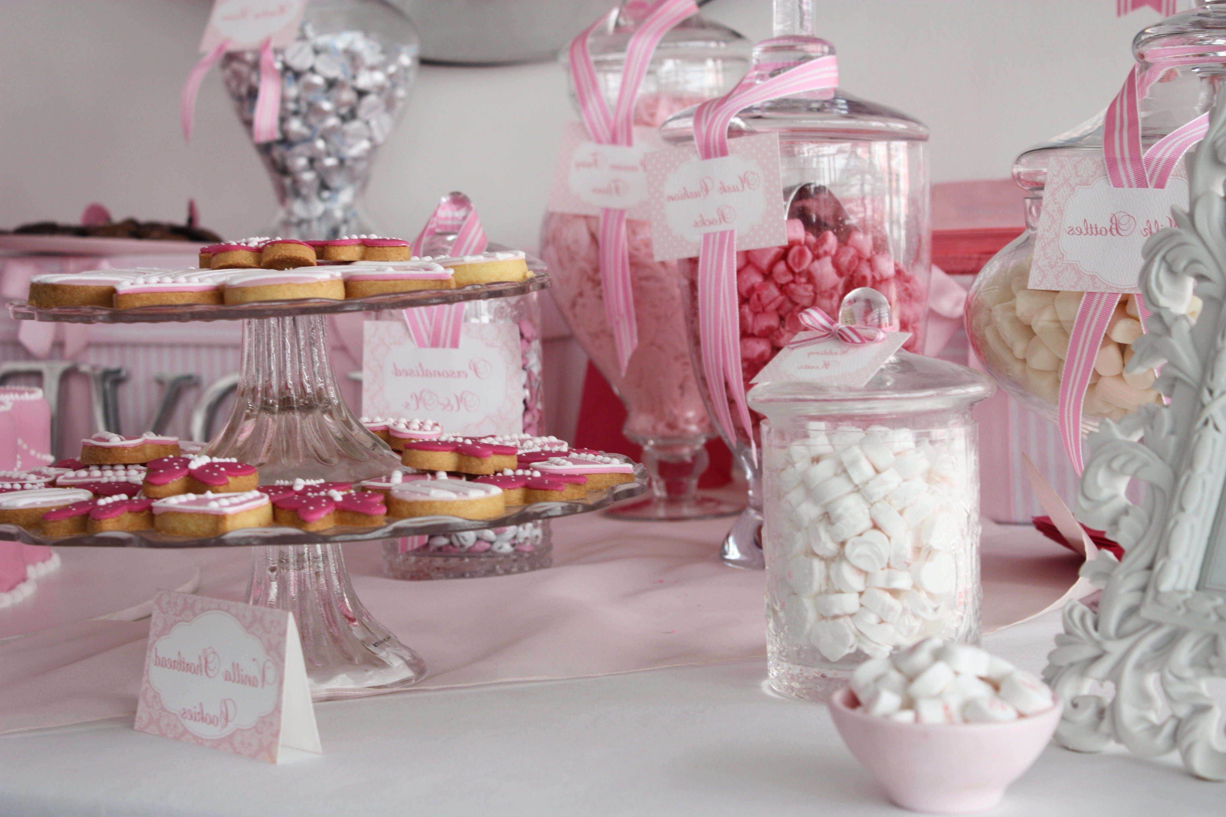 Sugarcoated Pink And White Candy Buffet – The Sweetest Occasion Within Pink And White Geometric Buffets (View 5 of 20)