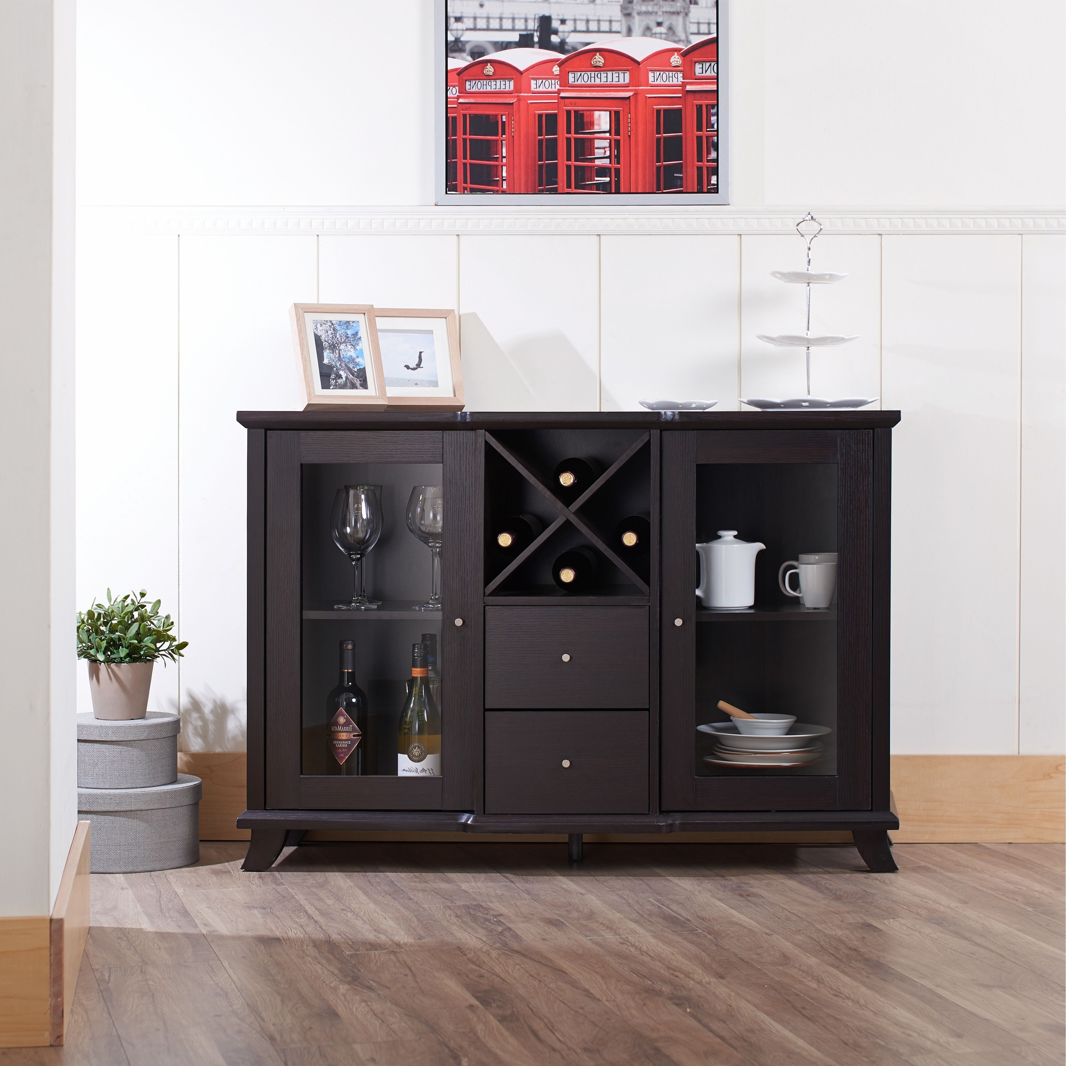 Synthie Contemporary Cappuccino Dining Buffetfoa | Home In Modern Cappuccino Open Storage Dining Buffets (View 11 of 20)