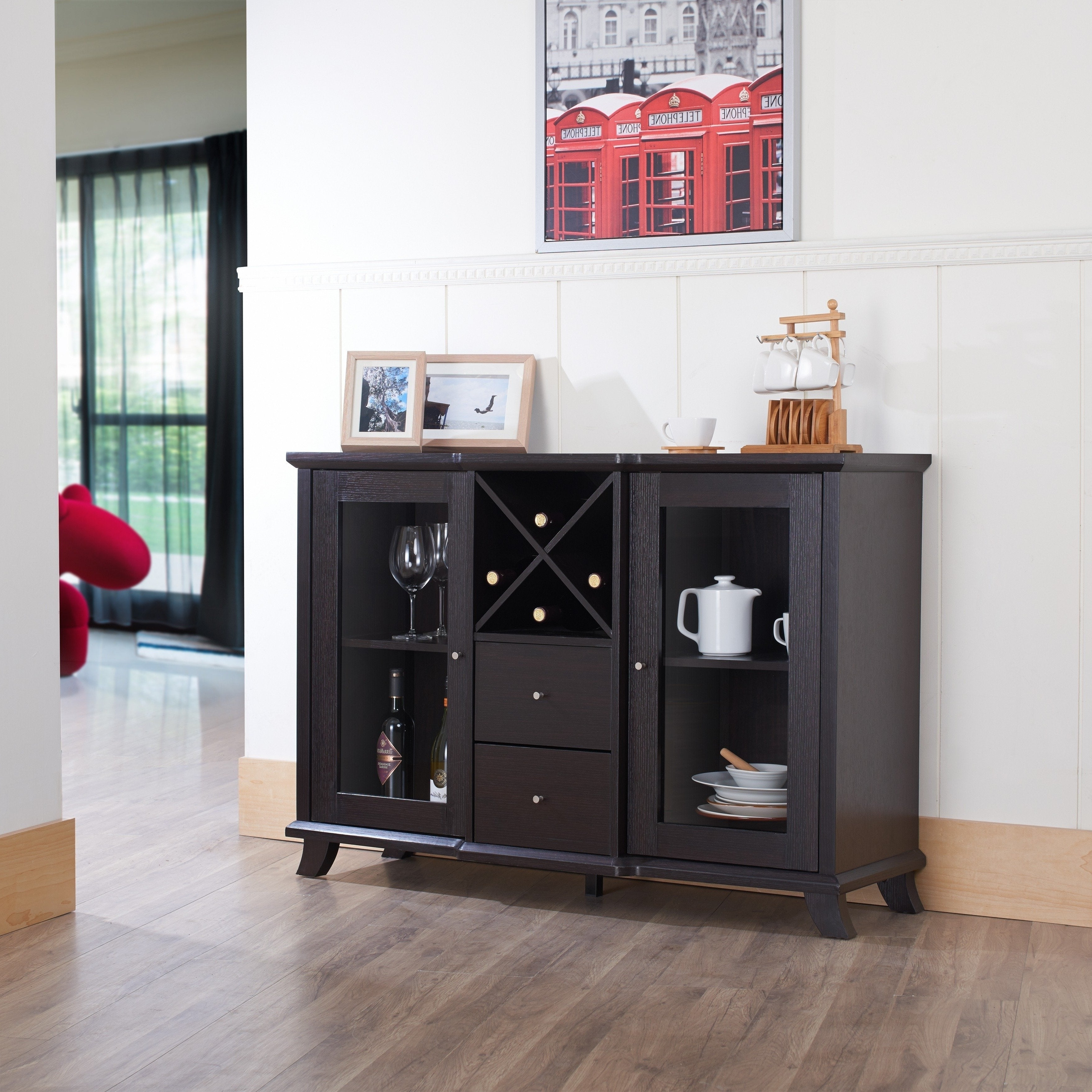 Synthie Contemporary Cappuccino Dining Buffetfoa Inside Modern Cappuccino Open Storage Dining Buffets (View 12 of 20)